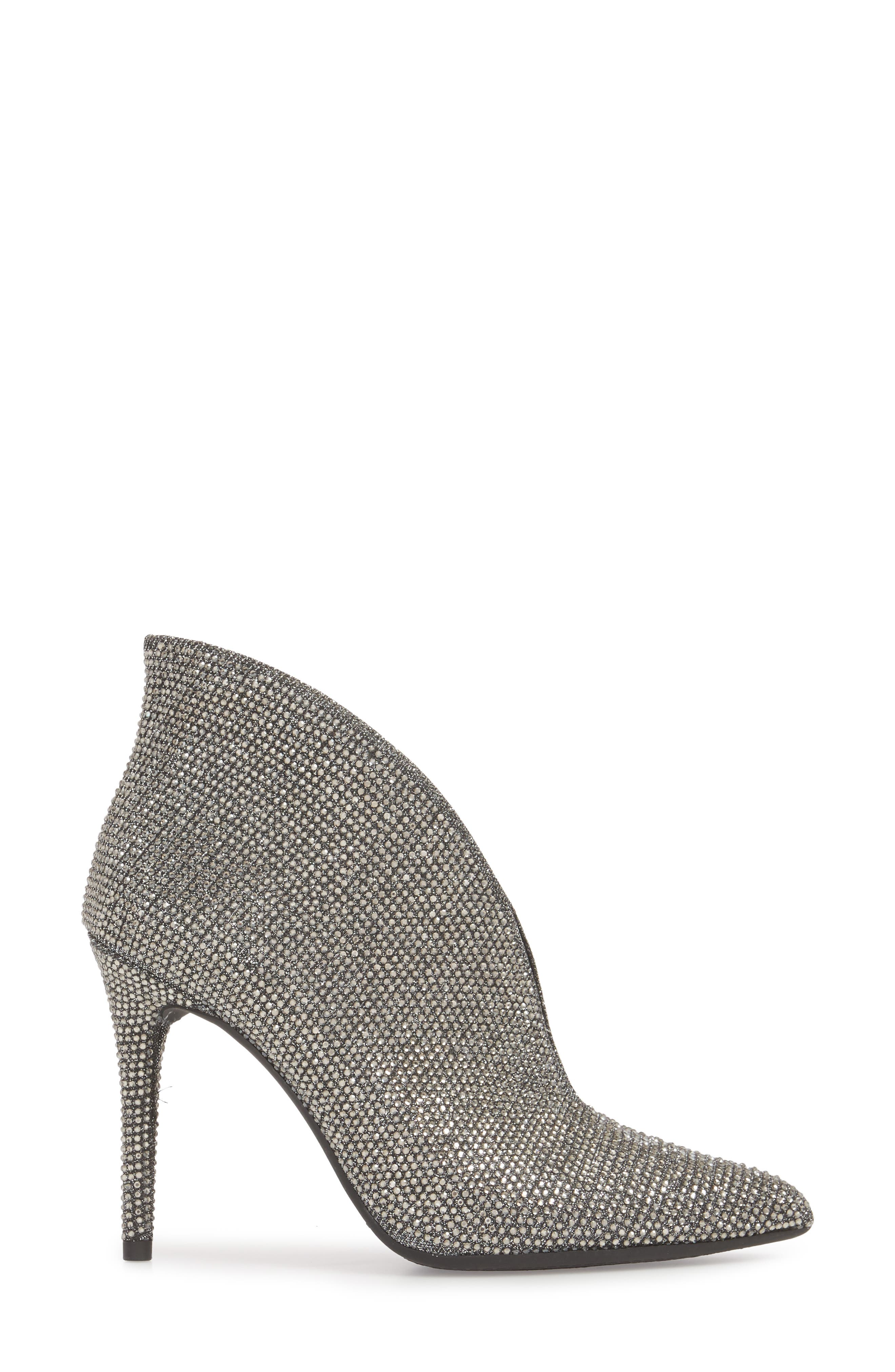 Lasnia Embellished Bootie,                             Alternate thumbnail 3, color,                             PEWTER MULTI