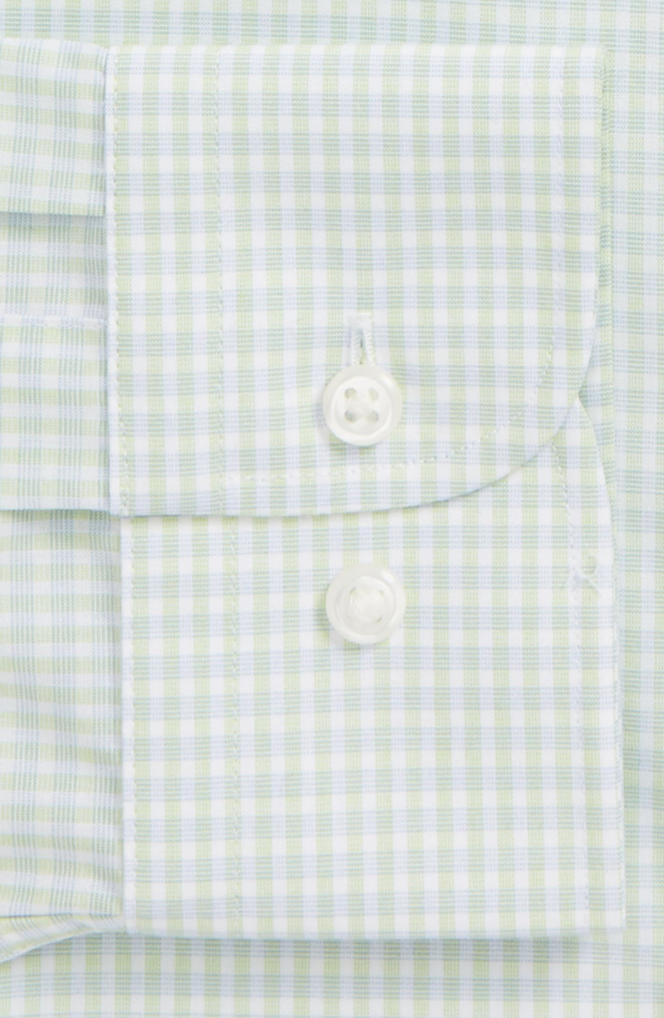 Trim Fit Non-Iron Check Dress Shirt,                             Alternate thumbnail 6, color,                             330