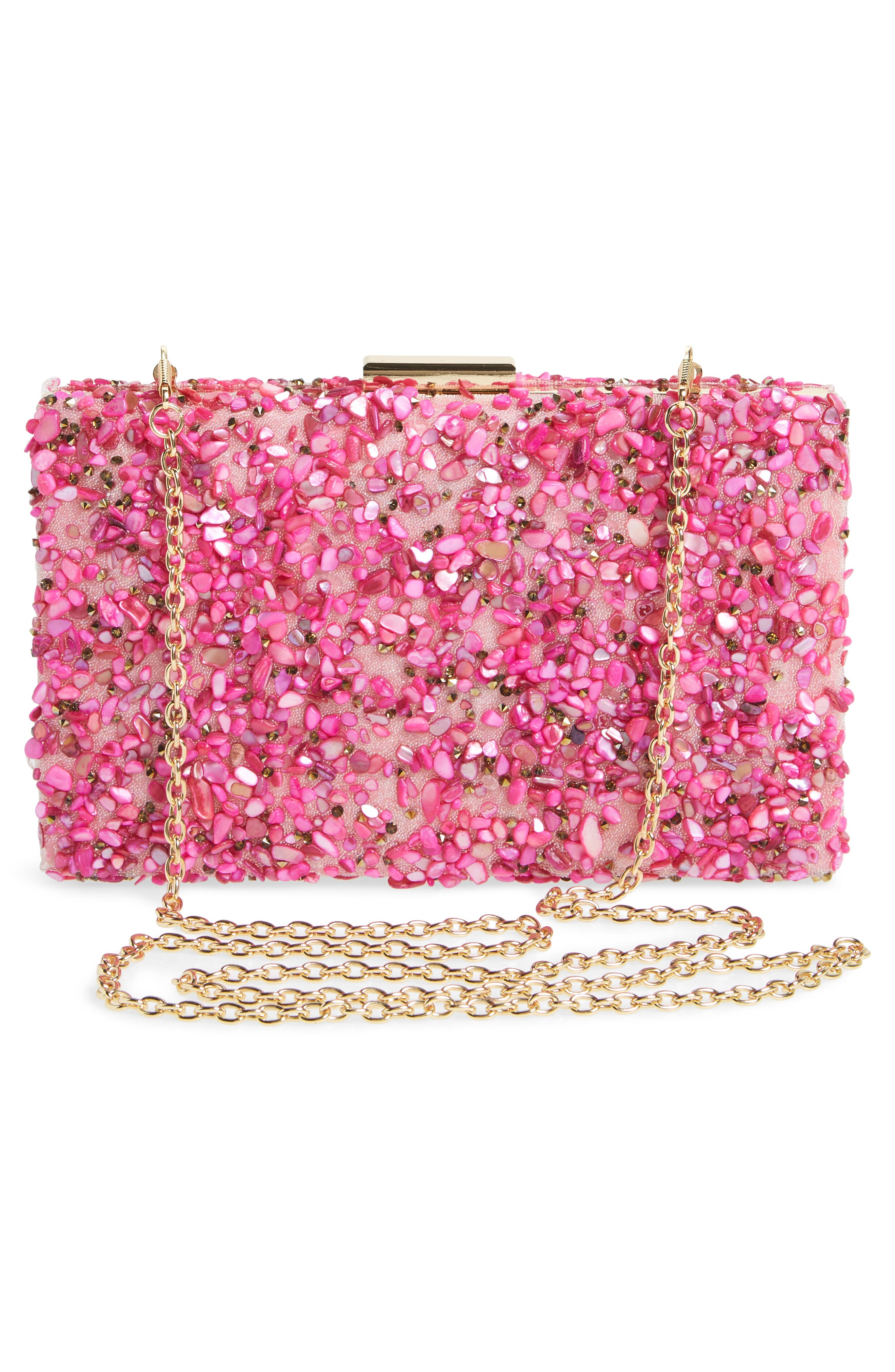 Chips Embellished Box Clutch,                             Alternate thumbnail 11, color,