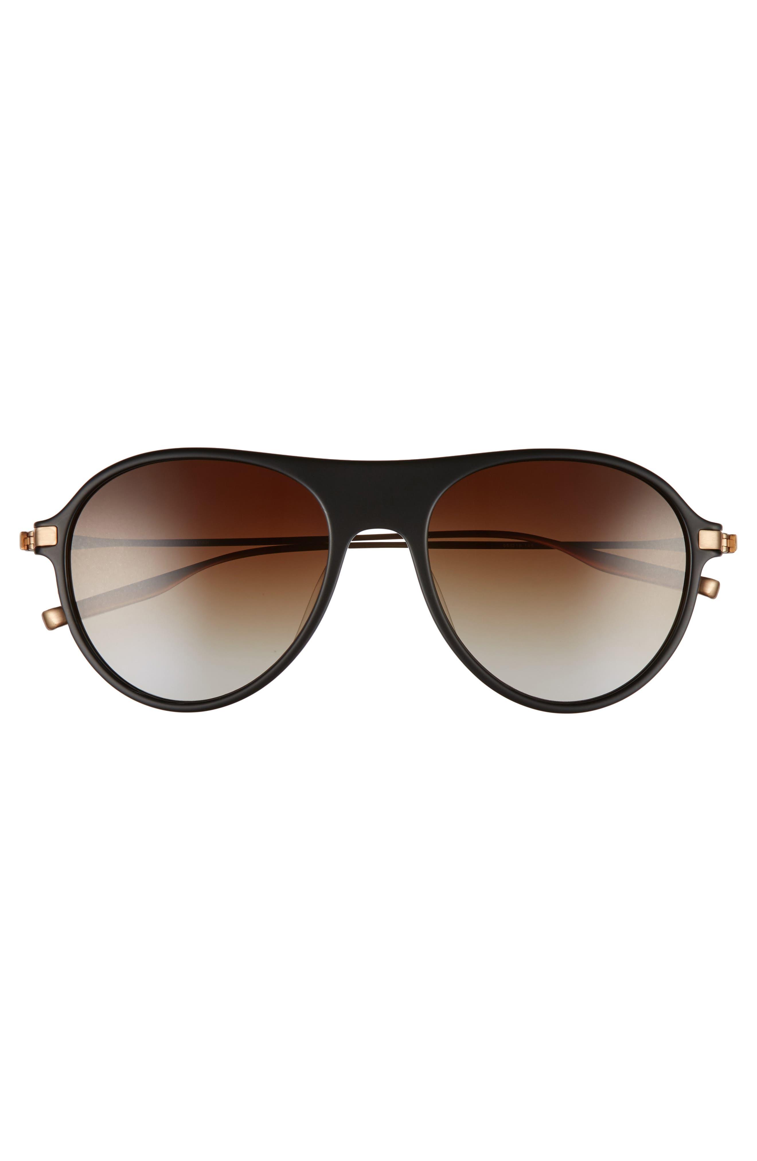 St. Hubbins 55mm Polarized Sunglasses,                             Alternate thumbnail 2, color,                             MATTE BLACK / BRUSHED HONEY