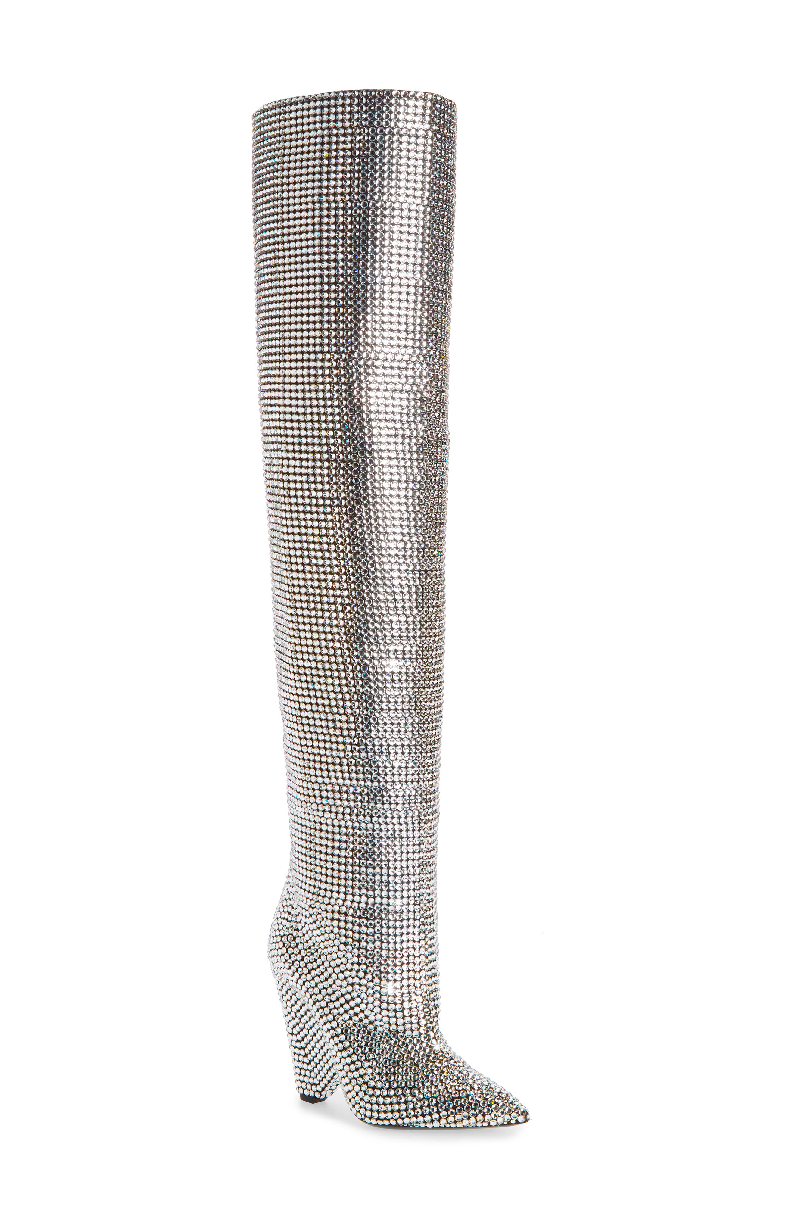 Niki Crystal Embellished Boot,                             Main thumbnail 1, color,                             040