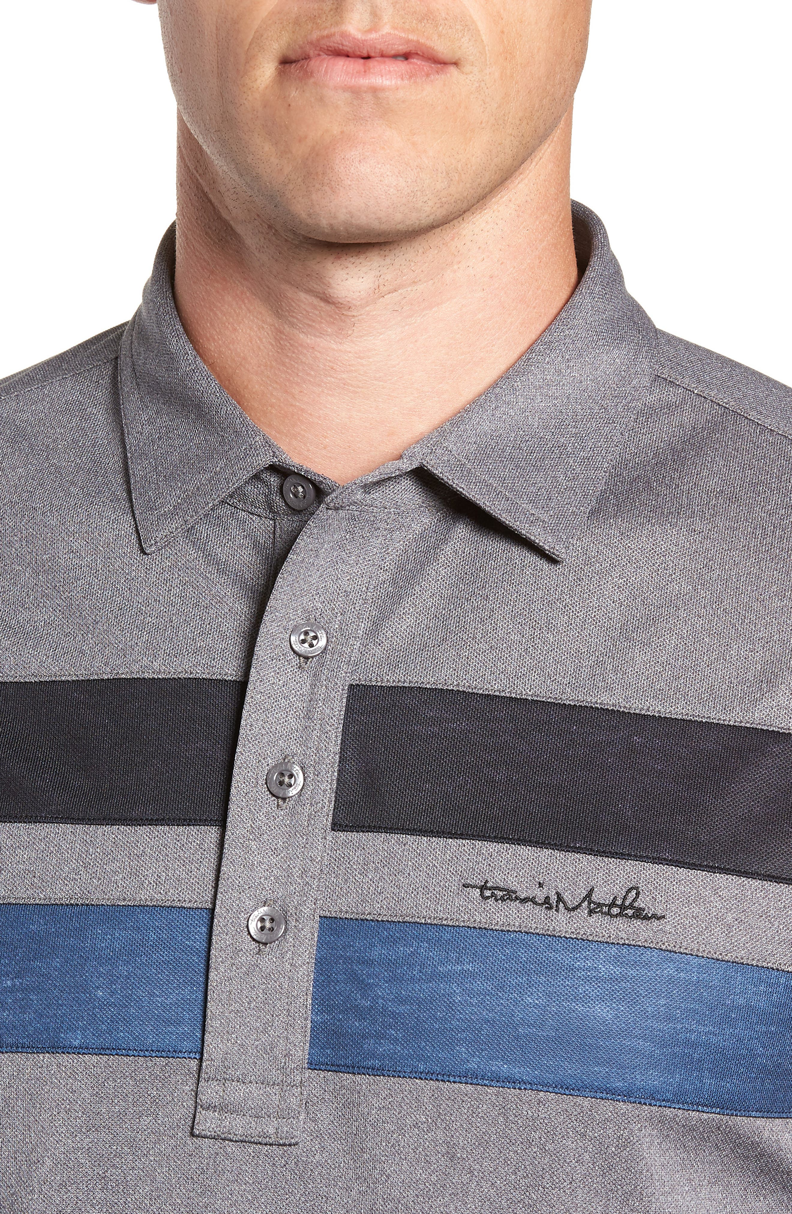 Big Six Regular Fit Polo,                             Alternate thumbnail 4, color,                             HEATHER GREY