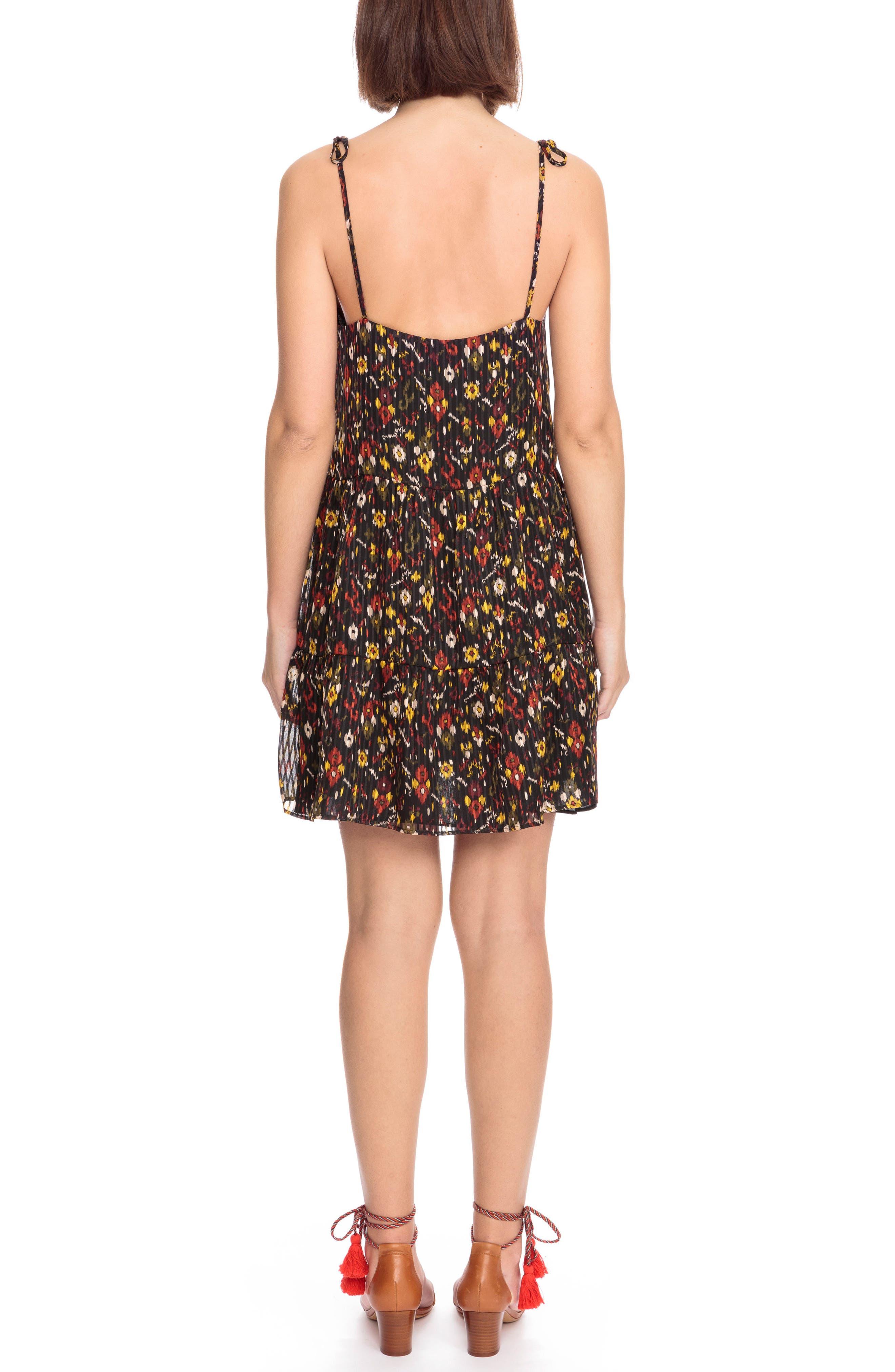 Felicie Floral Tie Strap Dress,                             Alternate thumbnail 2, color,                             600