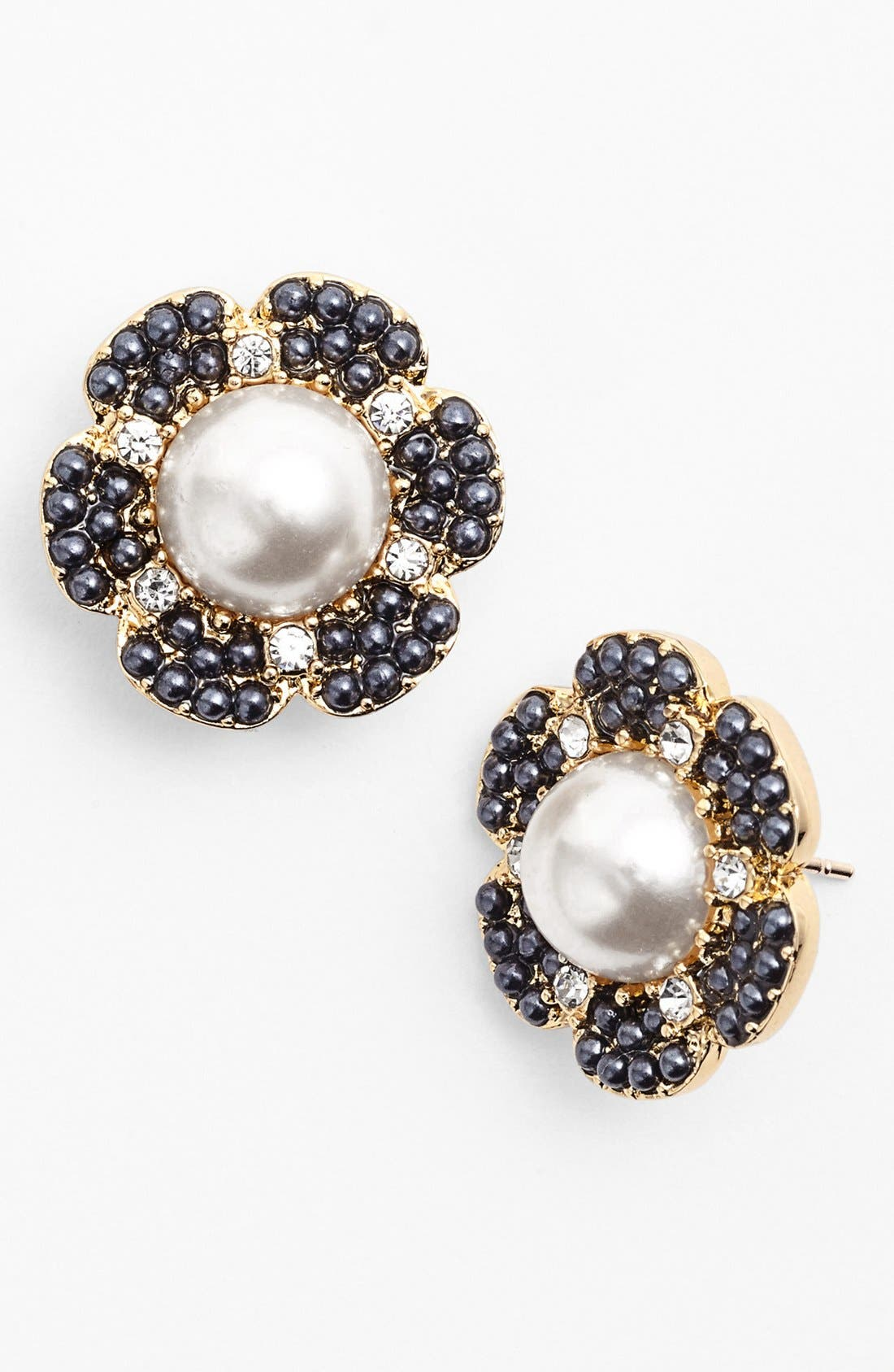 'park floral' stud earrings,                             Alternate thumbnail 2, color,                             410