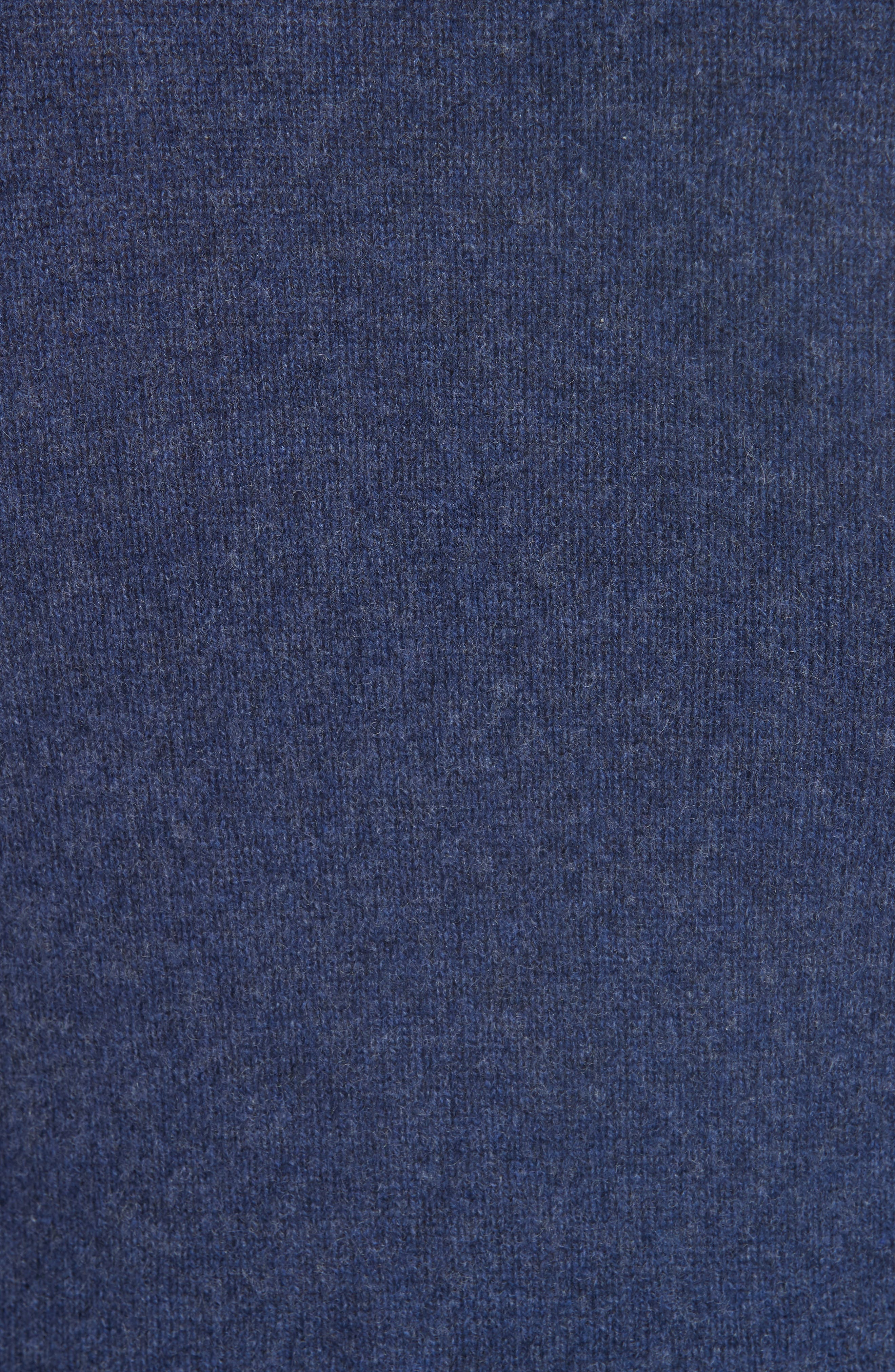 Cashmere Sweater,                             Alternate thumbnail 5, color,                             HEATHER NAVY