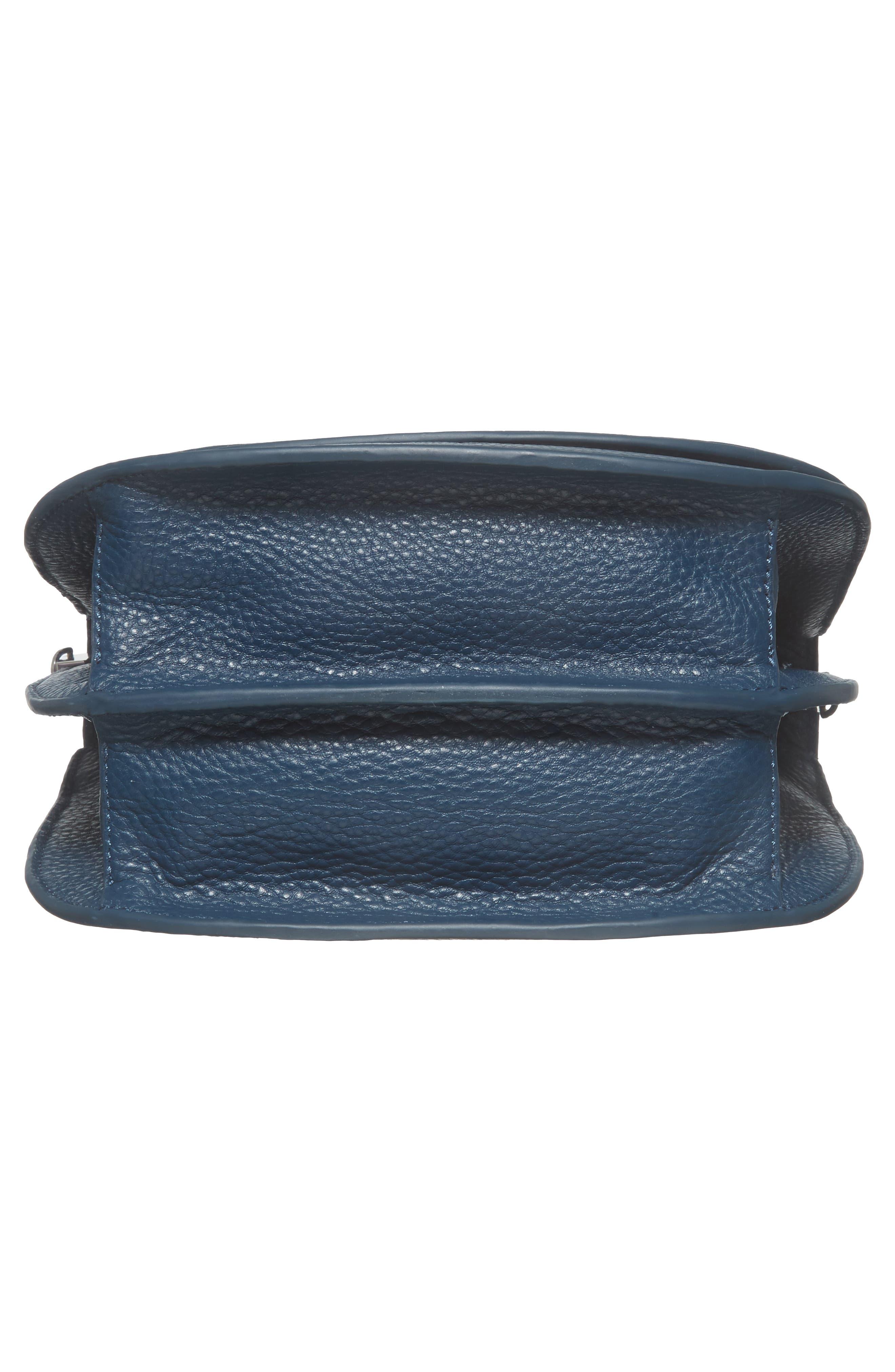 Landon Leather Crossbody Saddle Bag,                             Alternate thumbnail 22, color,