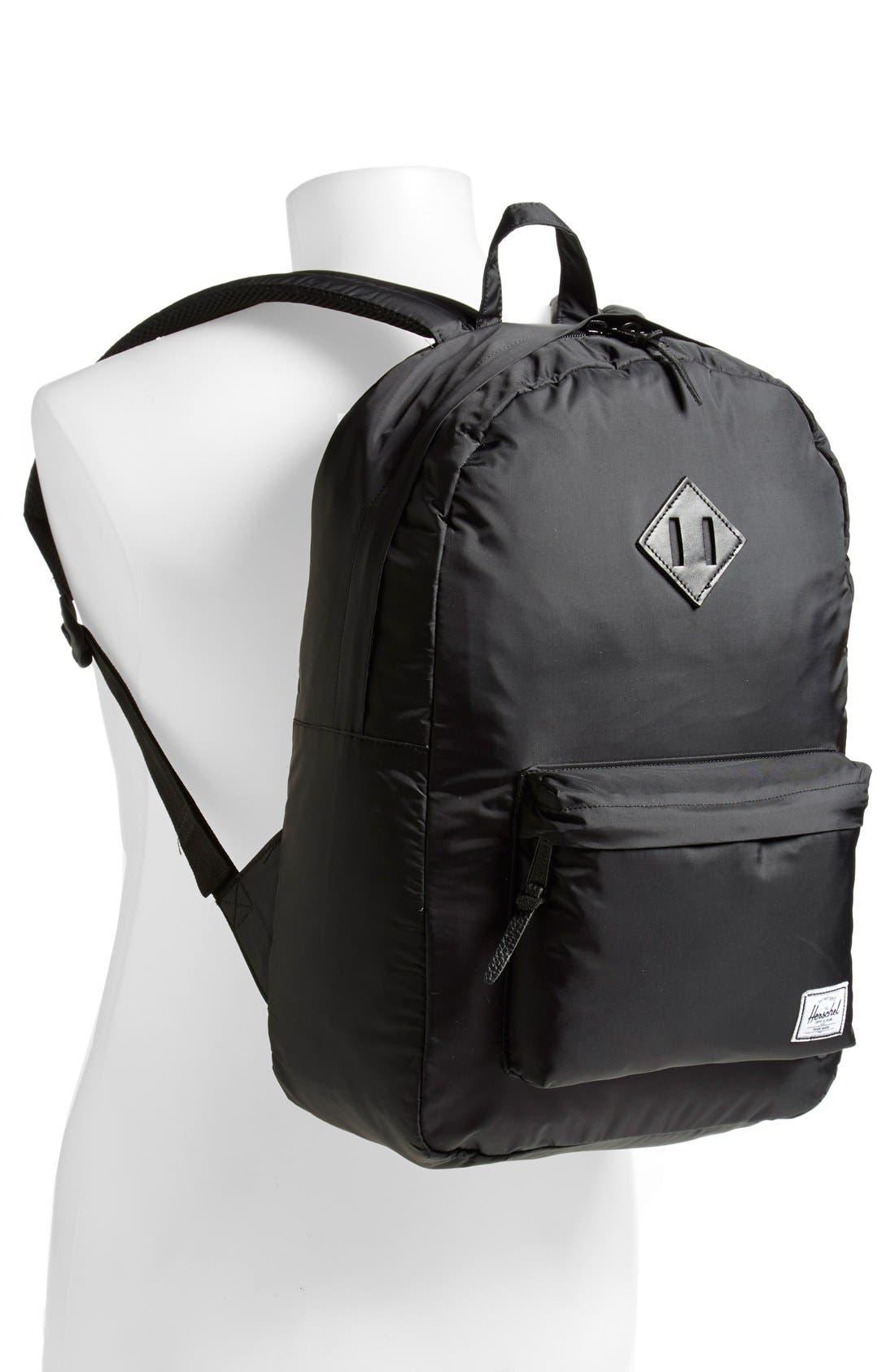 'Heritage' Nylon Backpack,                             Alternate thumbnail 4, color,                             007