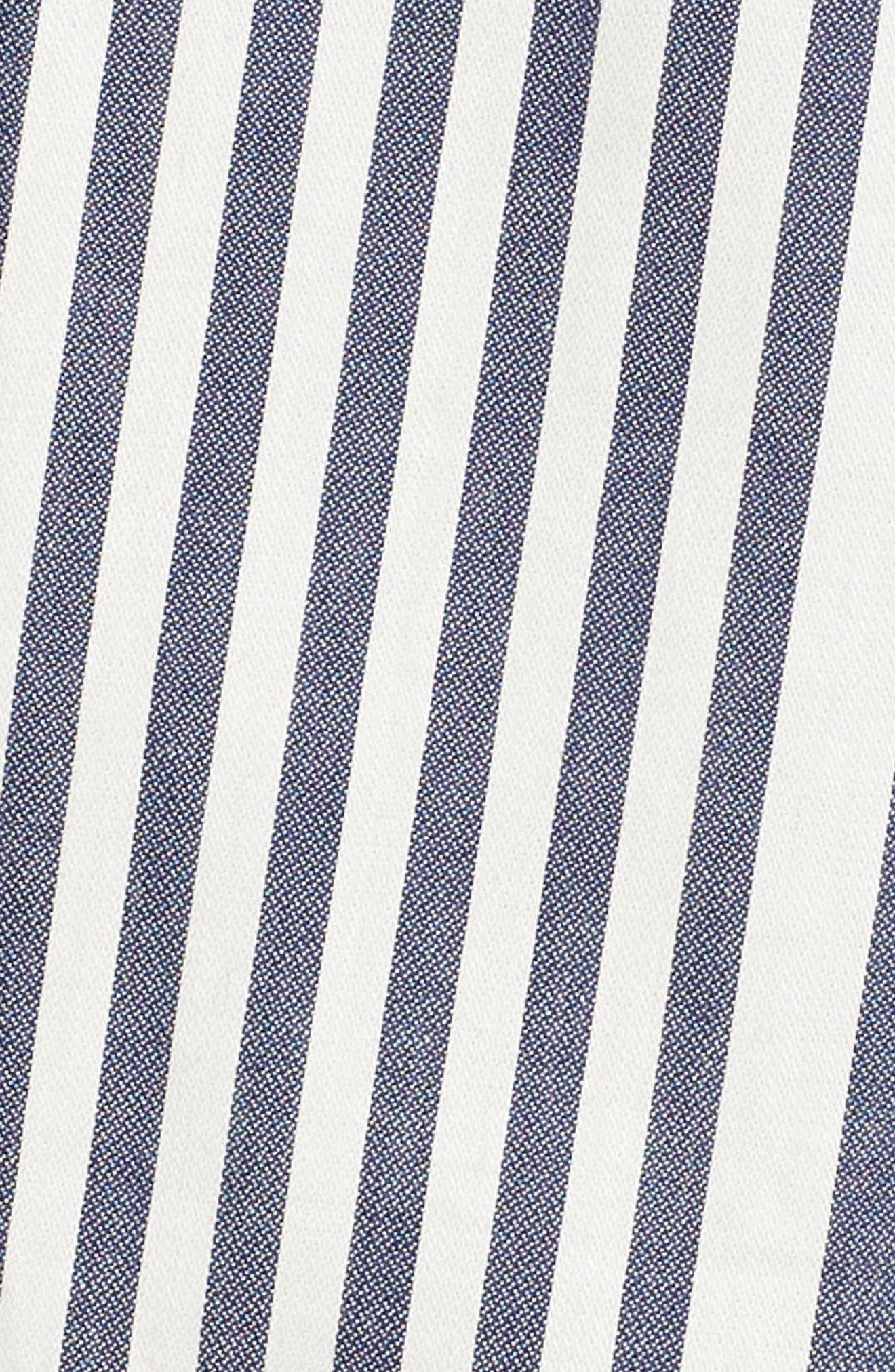 Rachel Stripe Shirtdress,                             Alternate thumbnail 6, color,                             100