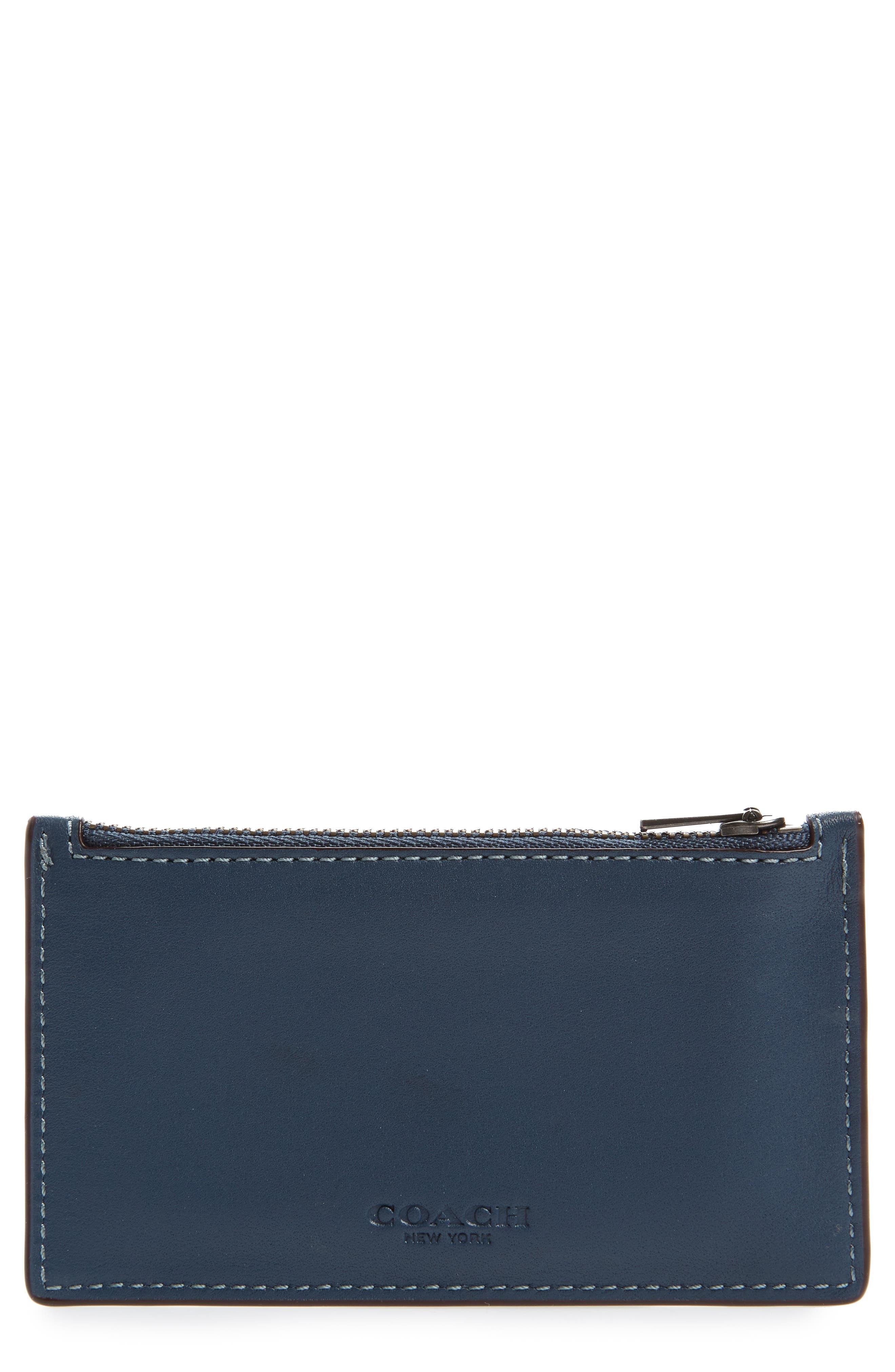 Zip Leather Card Case,                             Main thumbnail 2, color,