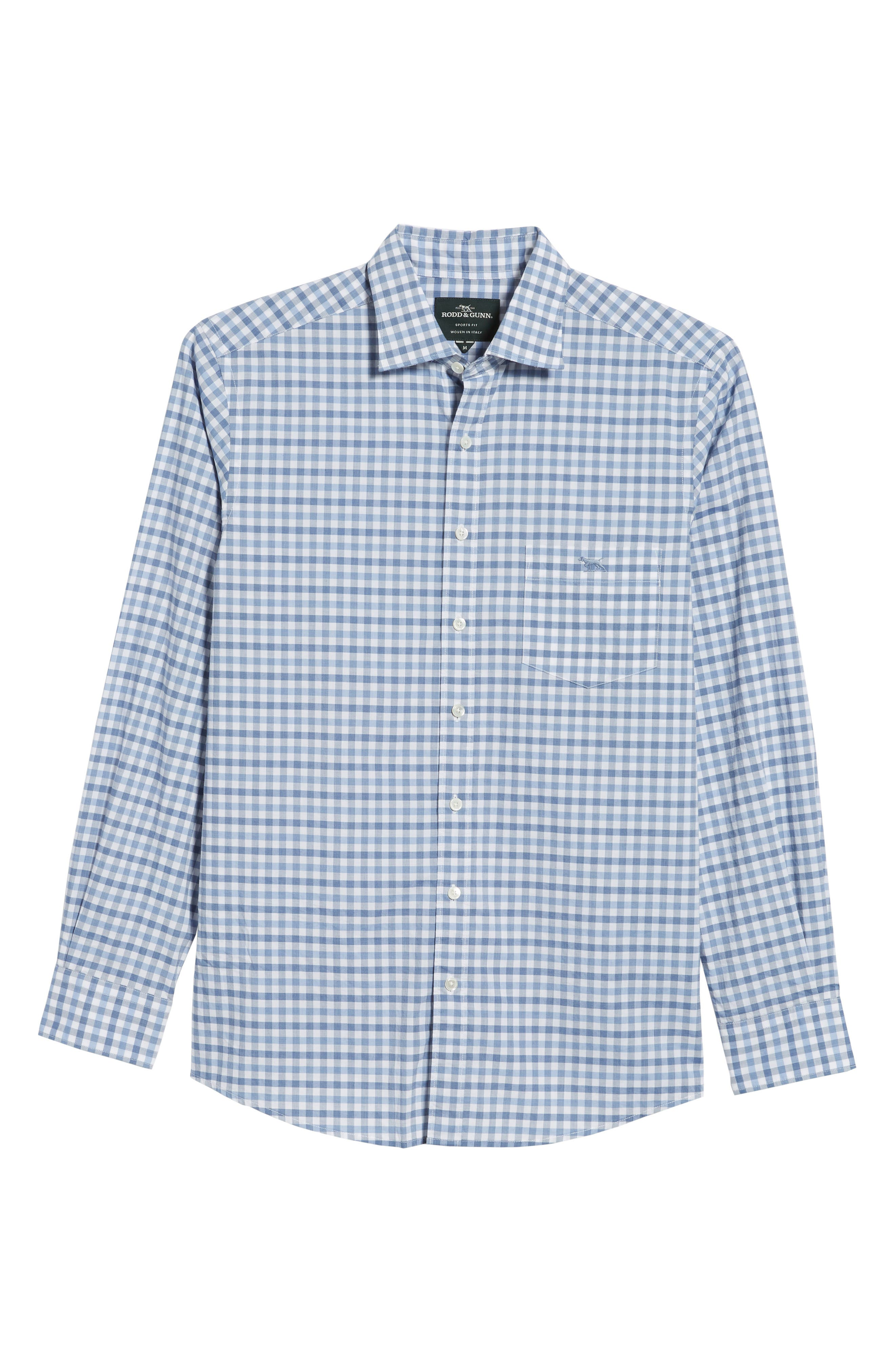 Shorecliffe Regular Fit Gingham Sport Shirt,                             Alternate thumbnail 6, color,                             414