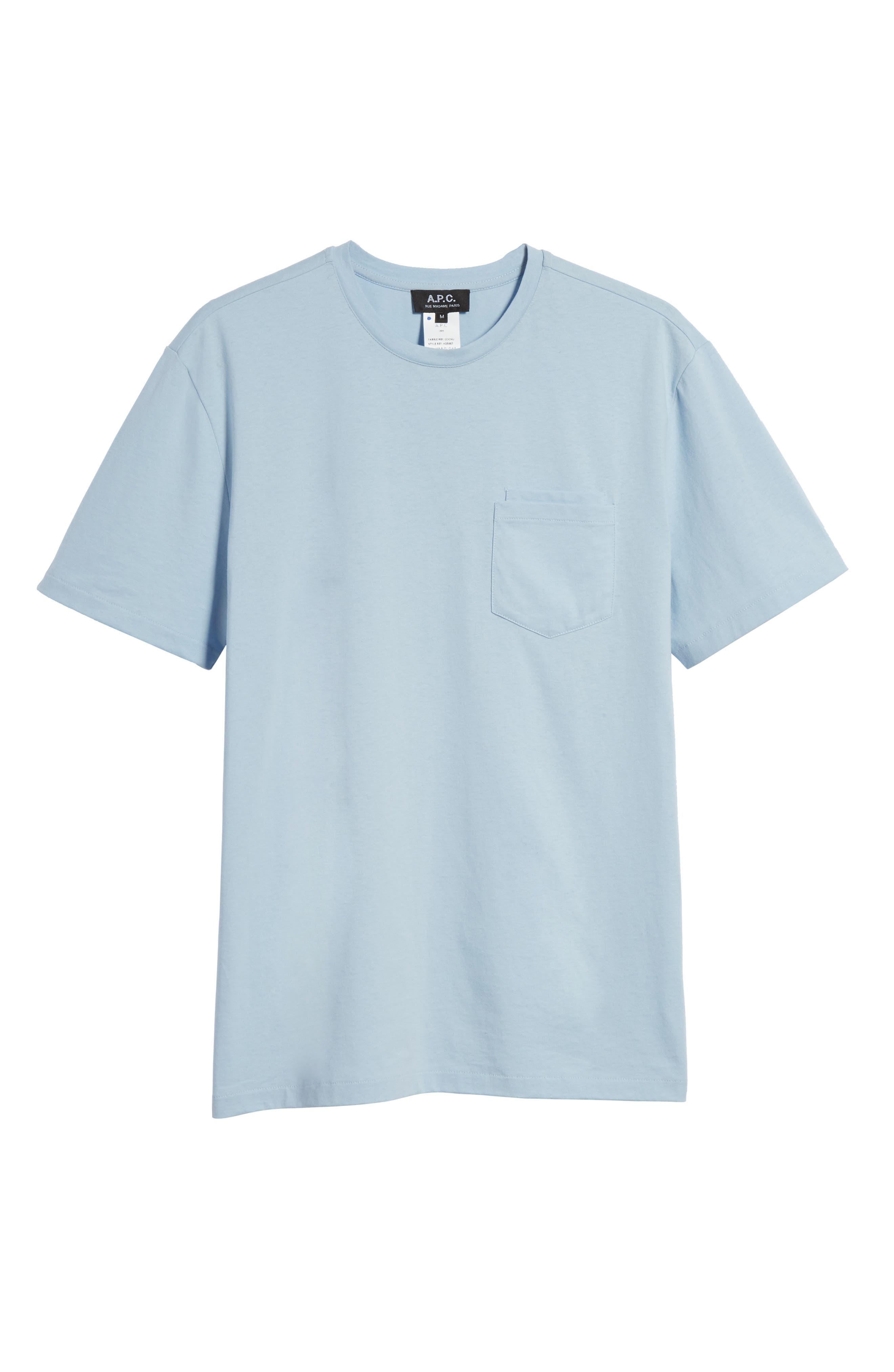 Double Pocket T-Shirt,                             Alternate thumbnail 6, color,                             BLUE
