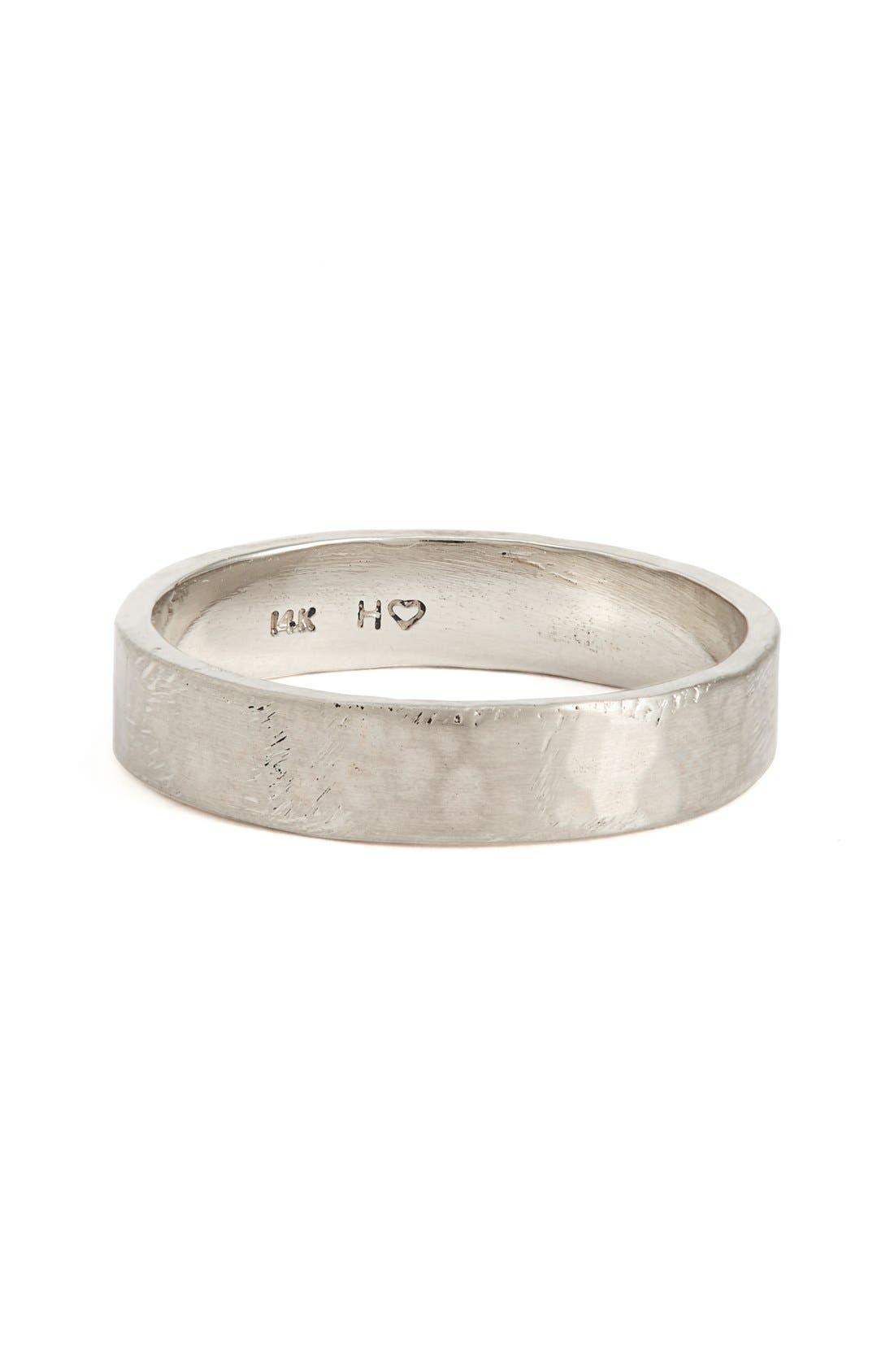Harmony<sup>®</sup> Flat Classic Hammered Band Ring,                             Main thumbnail 2, color,