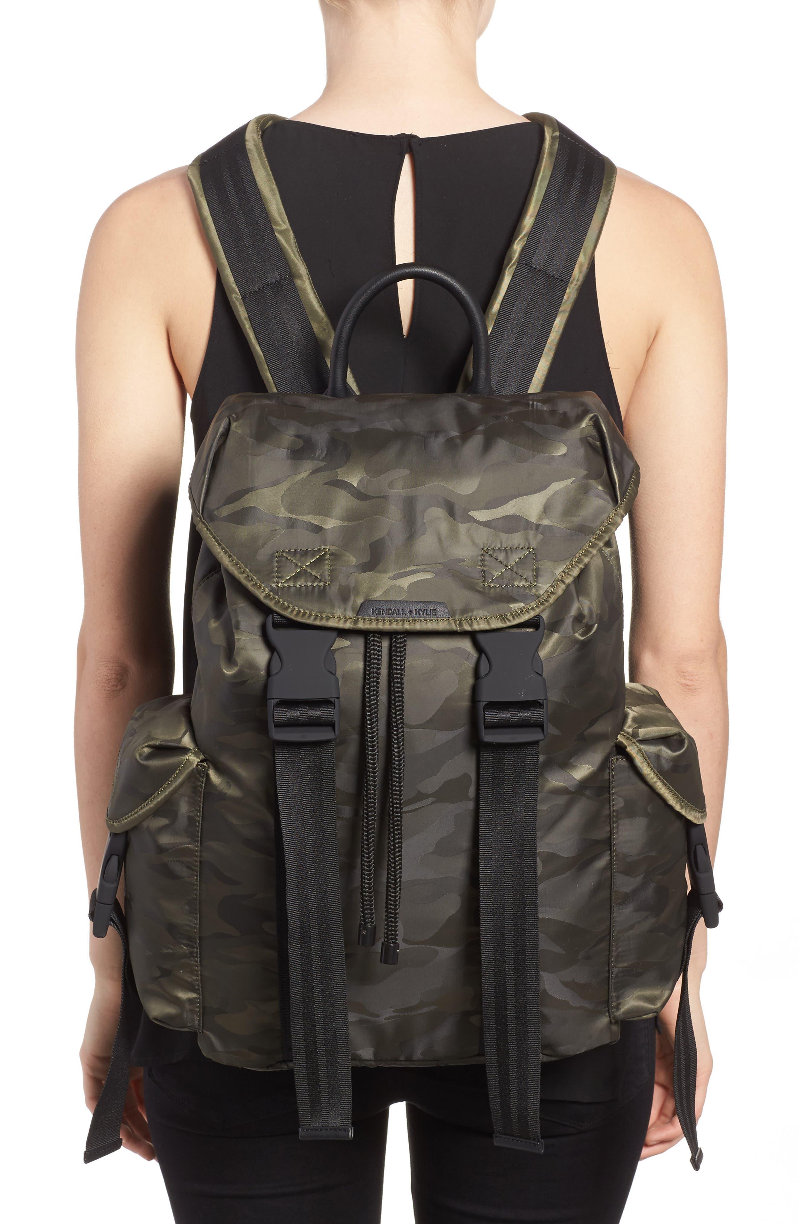 Jordyn Nylon Backpack,                             Alternate thumbnail 5, color,