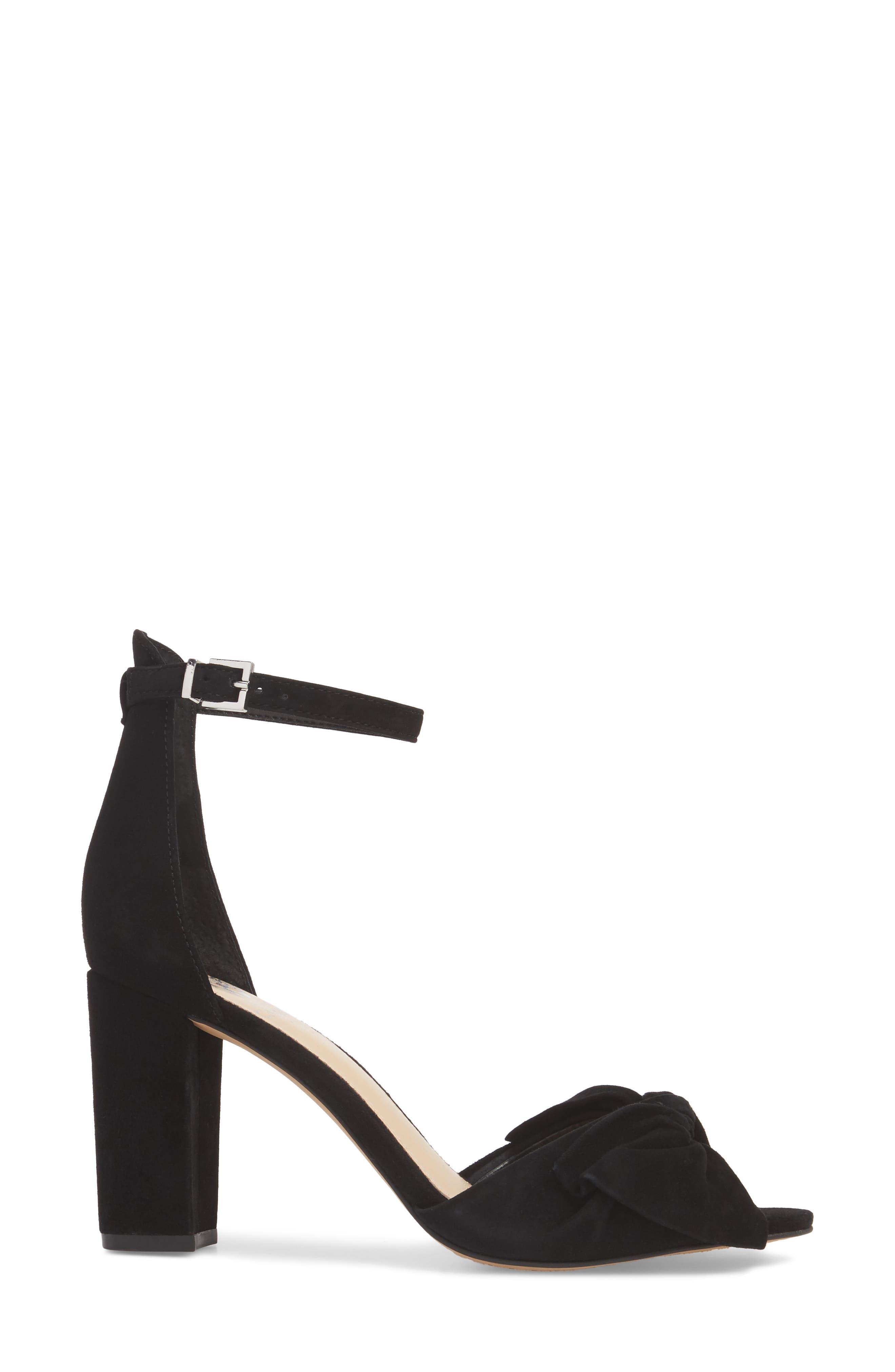 Carrelen Block Heel Sandal,                             Alternate thumbnail 3, color,                             001