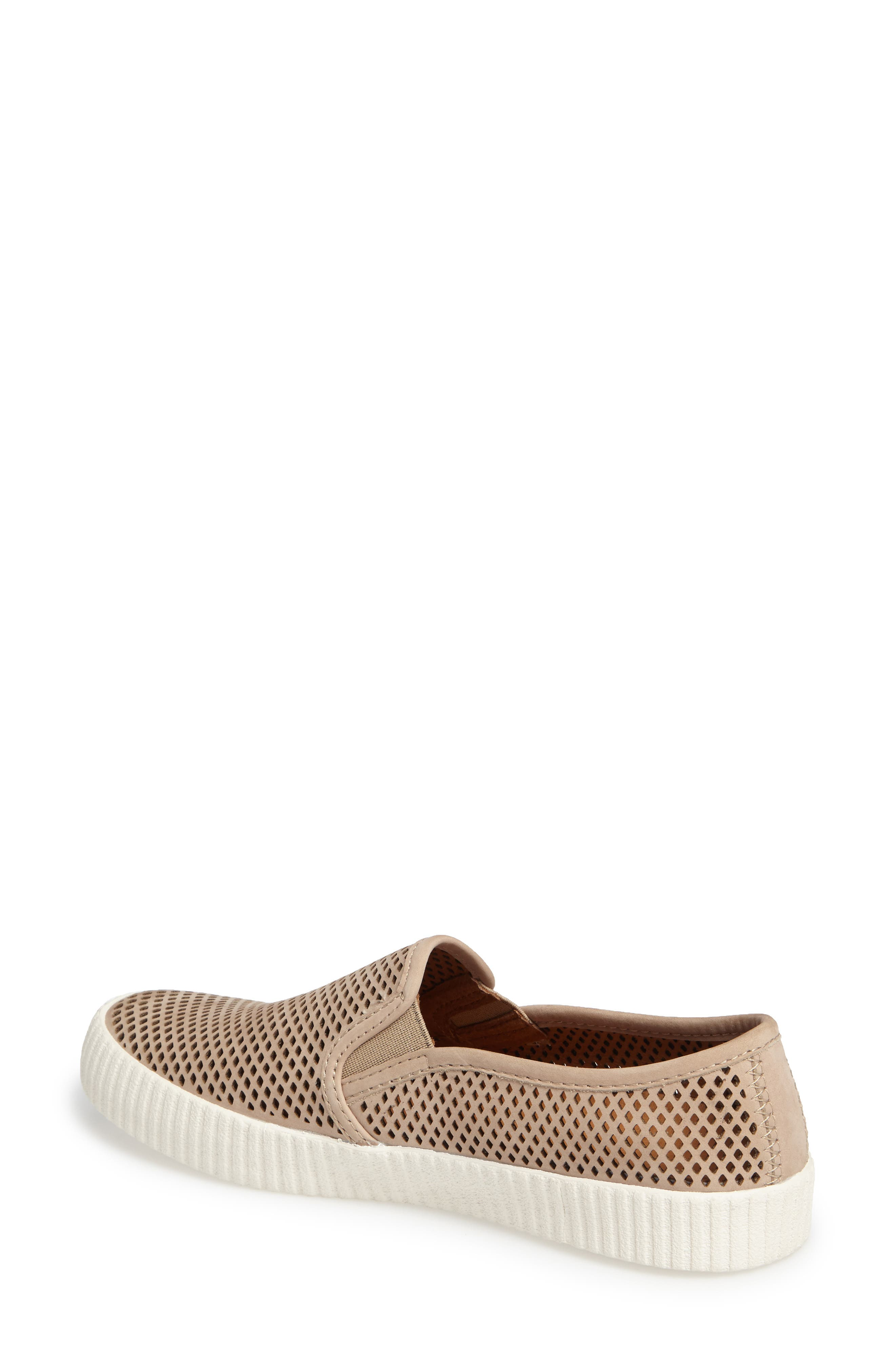 Camille Perforated Slip-On Sneaker,                             Alternate thumbnail 4, color,