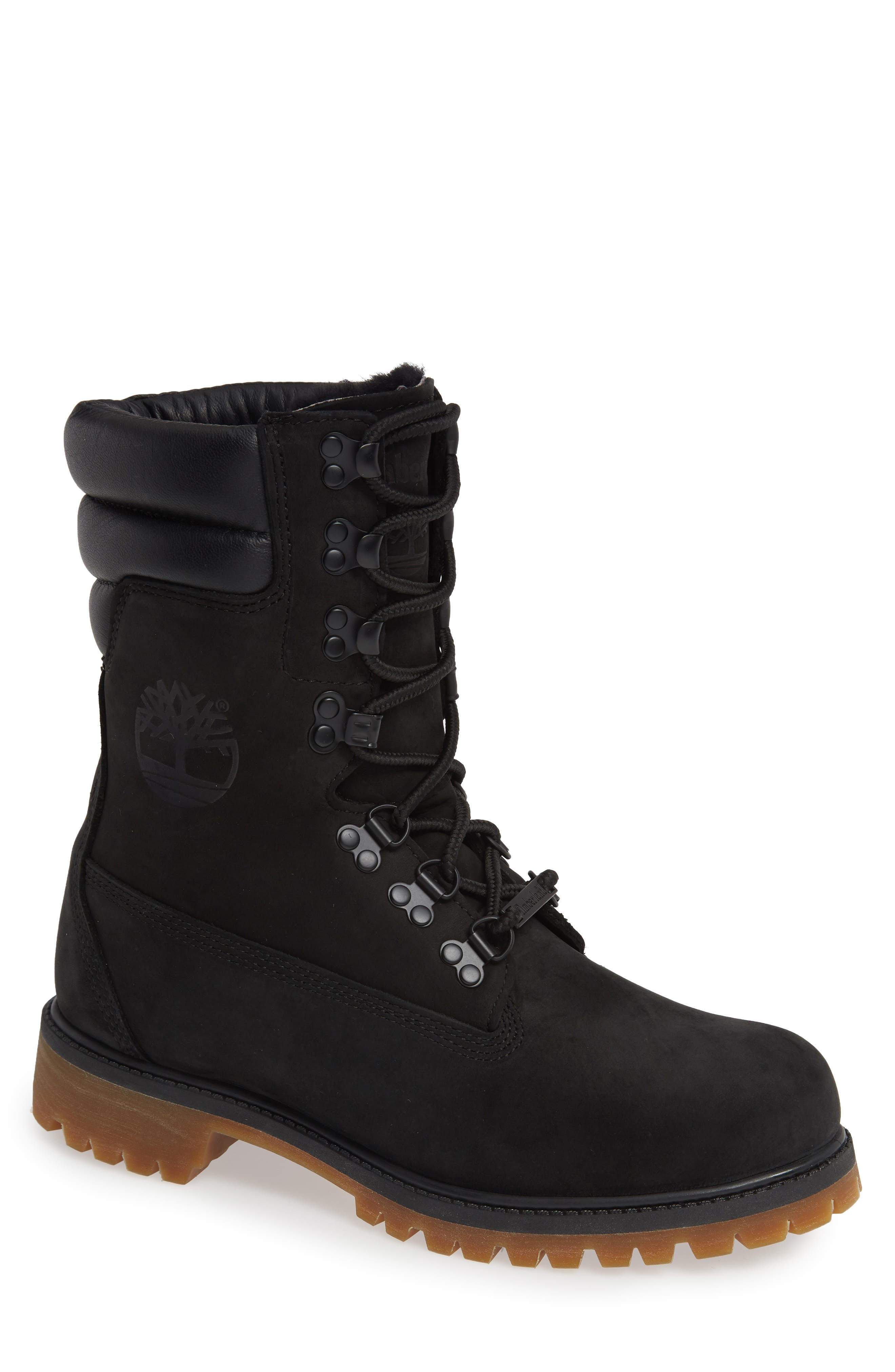 TIMBERLAND,                             Level 0 Super Boot,                             Main thumbnail 1, color,                             BLACK LEATHER