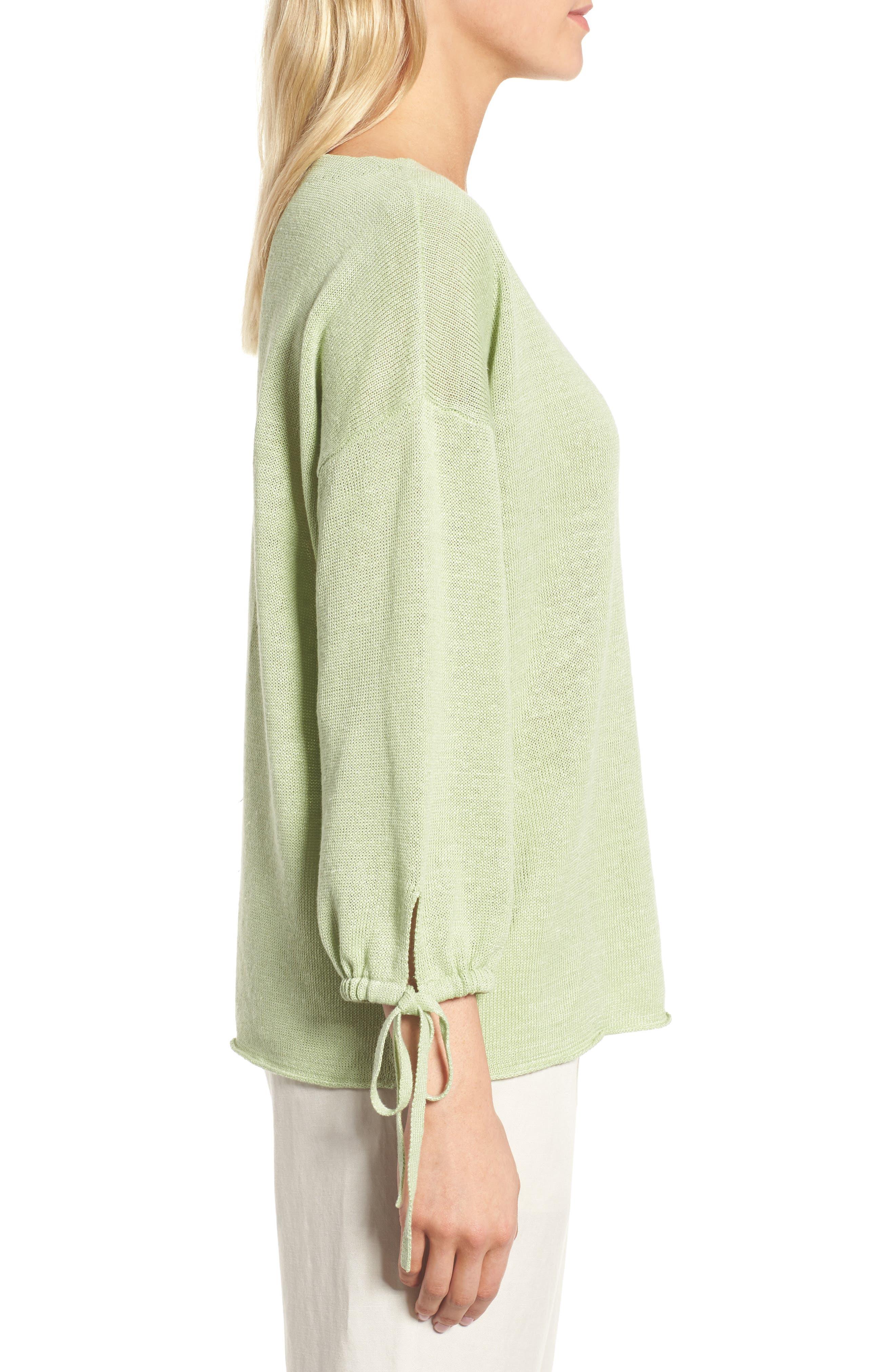 Organic Linen Sweater,                             Alternate thumbnail 11, color,