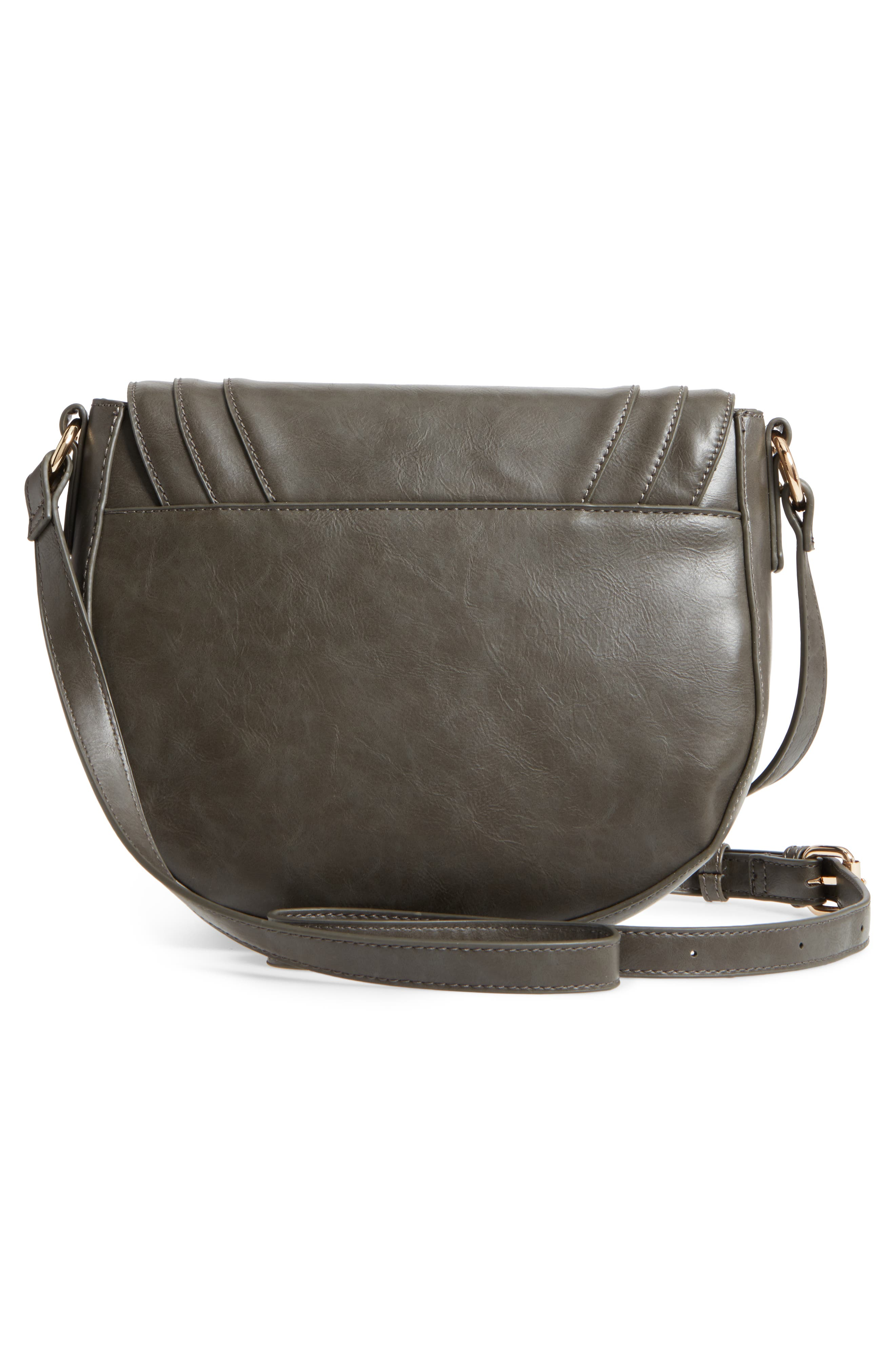 Piri Faux Leather Saddle Bag,                             Alternate thumbnail 8, color,