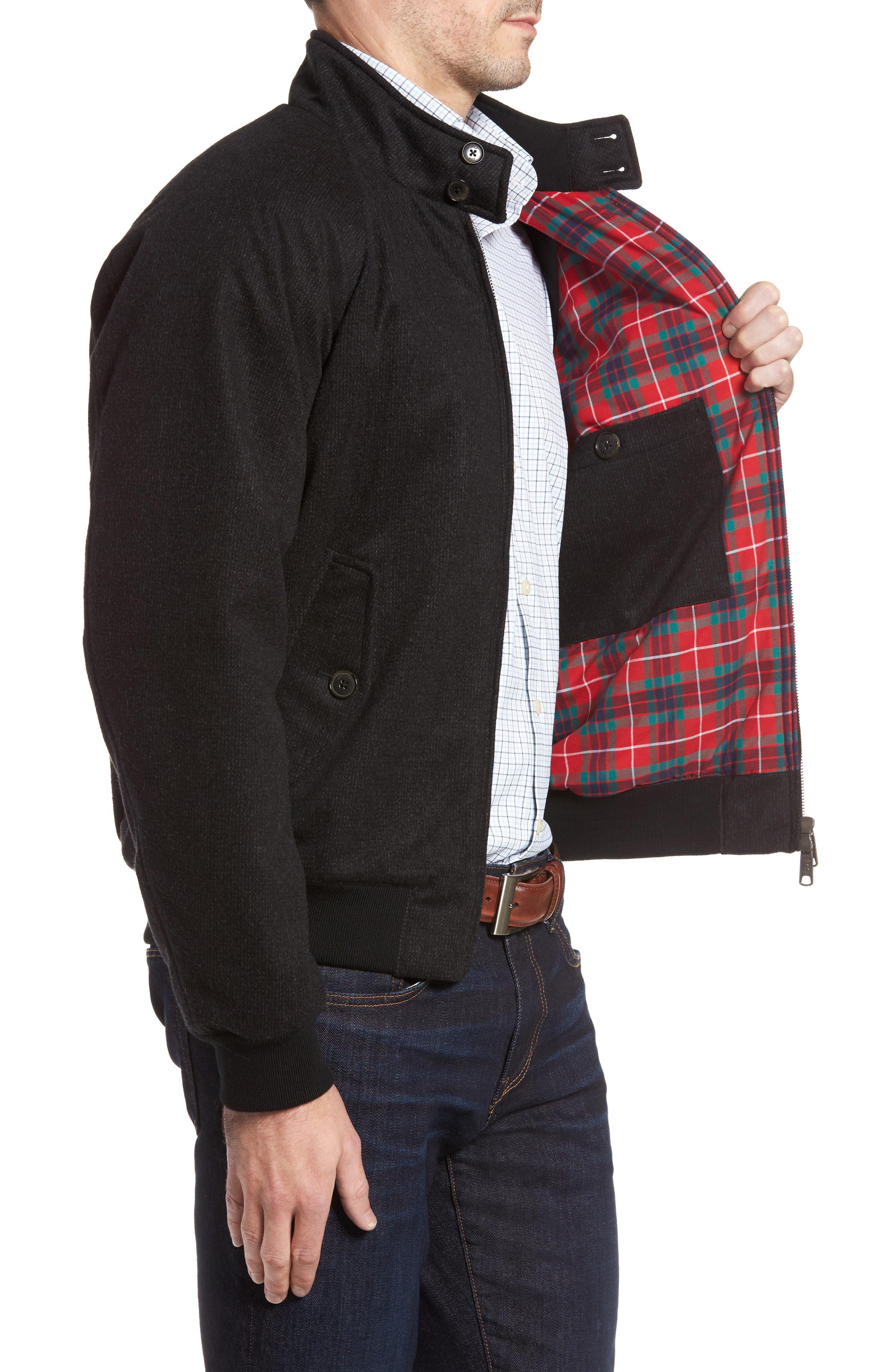 G9 Waterproof Wool Blend Harrington Jacket,                             Alternate thumbnail 3, color,                             020