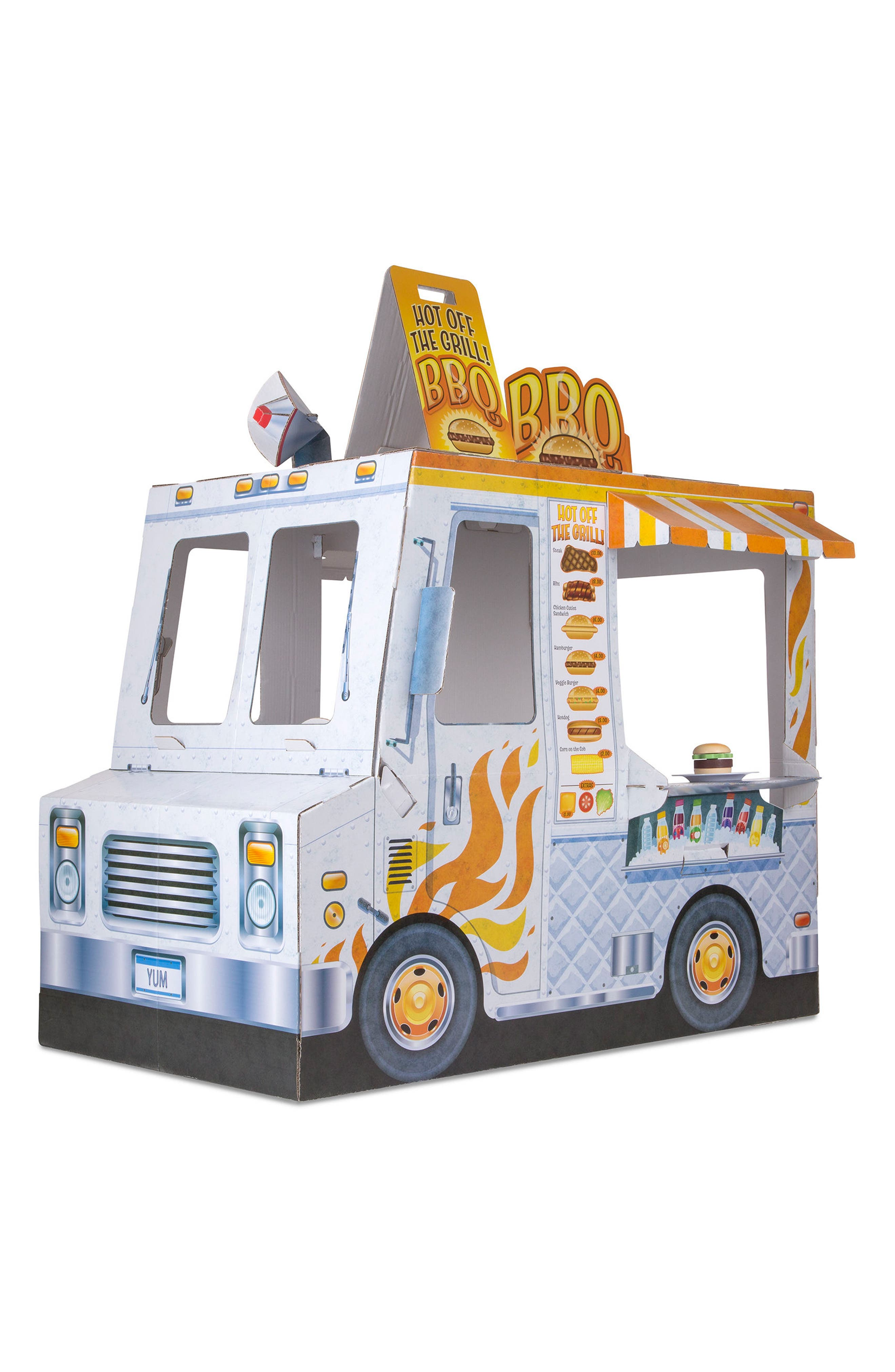 Ice Cream & Food Truck Indoor Playhouse,                             Alternate thumbnail 8, color,                             WHITE
