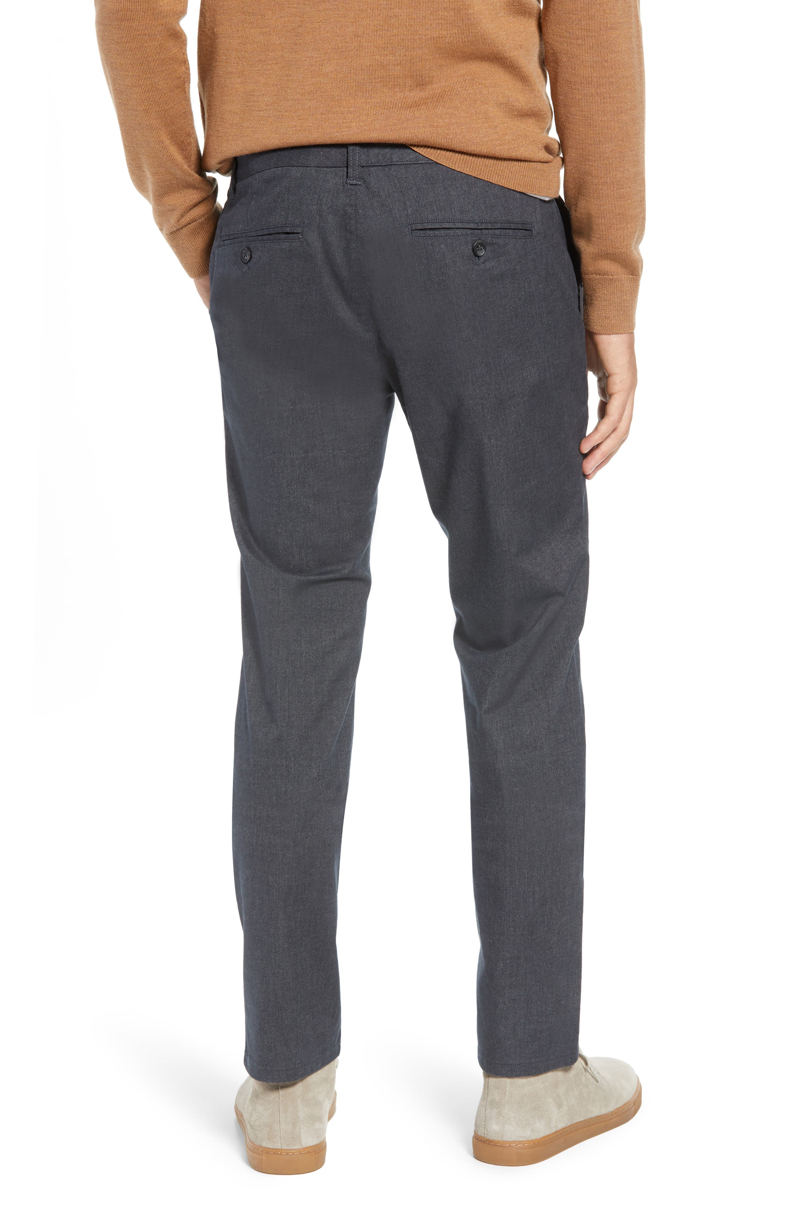 Slim Fit Stretch Yarn-Dye Washed Chinos,                             Alternate thumbnail 2, color,                             CHARCOAL HEATHER
