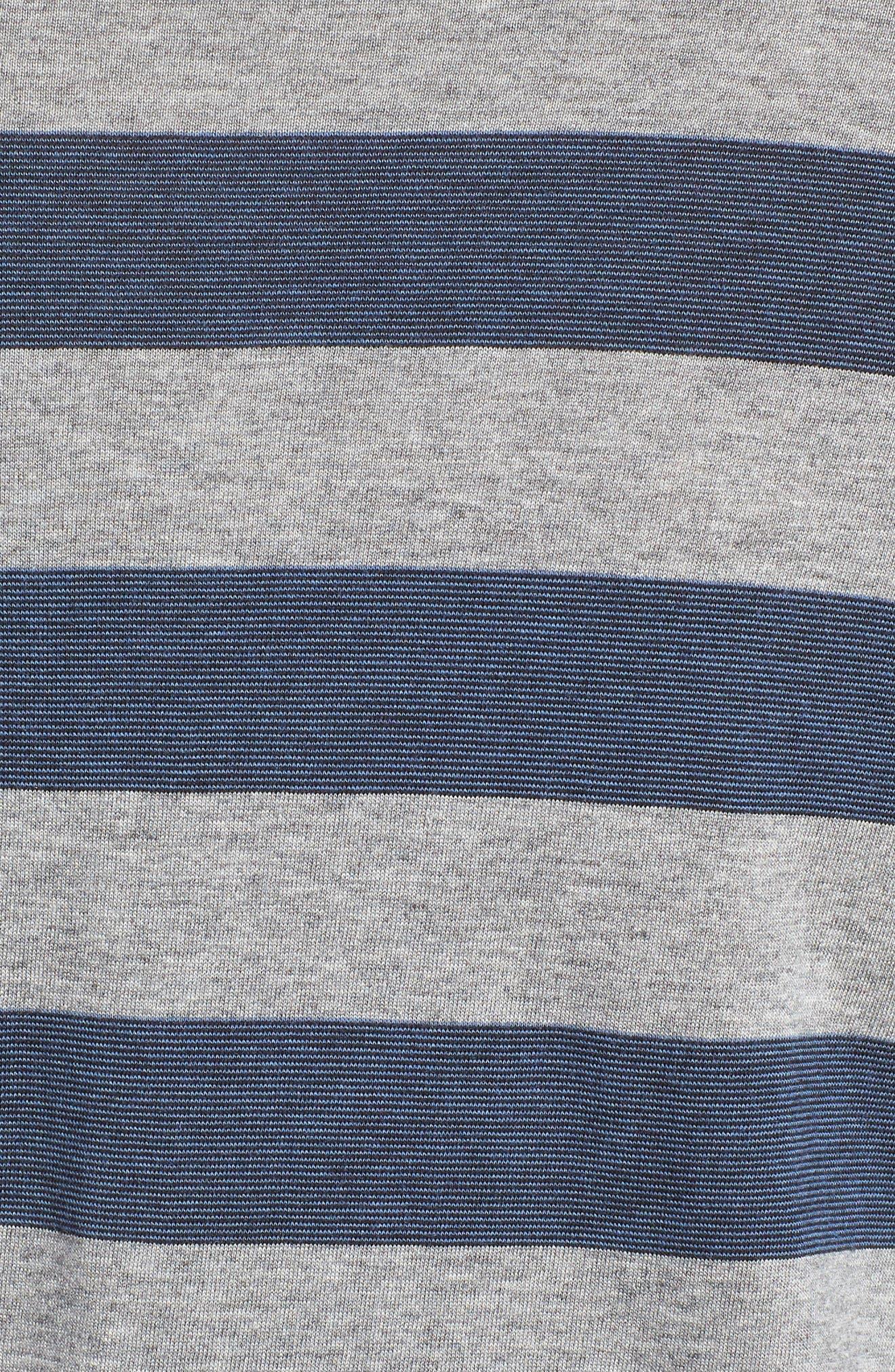 Stripe Pima Cotton & Modal Crewneck T-Shirt,                             Alternate thumbnail 5, color,