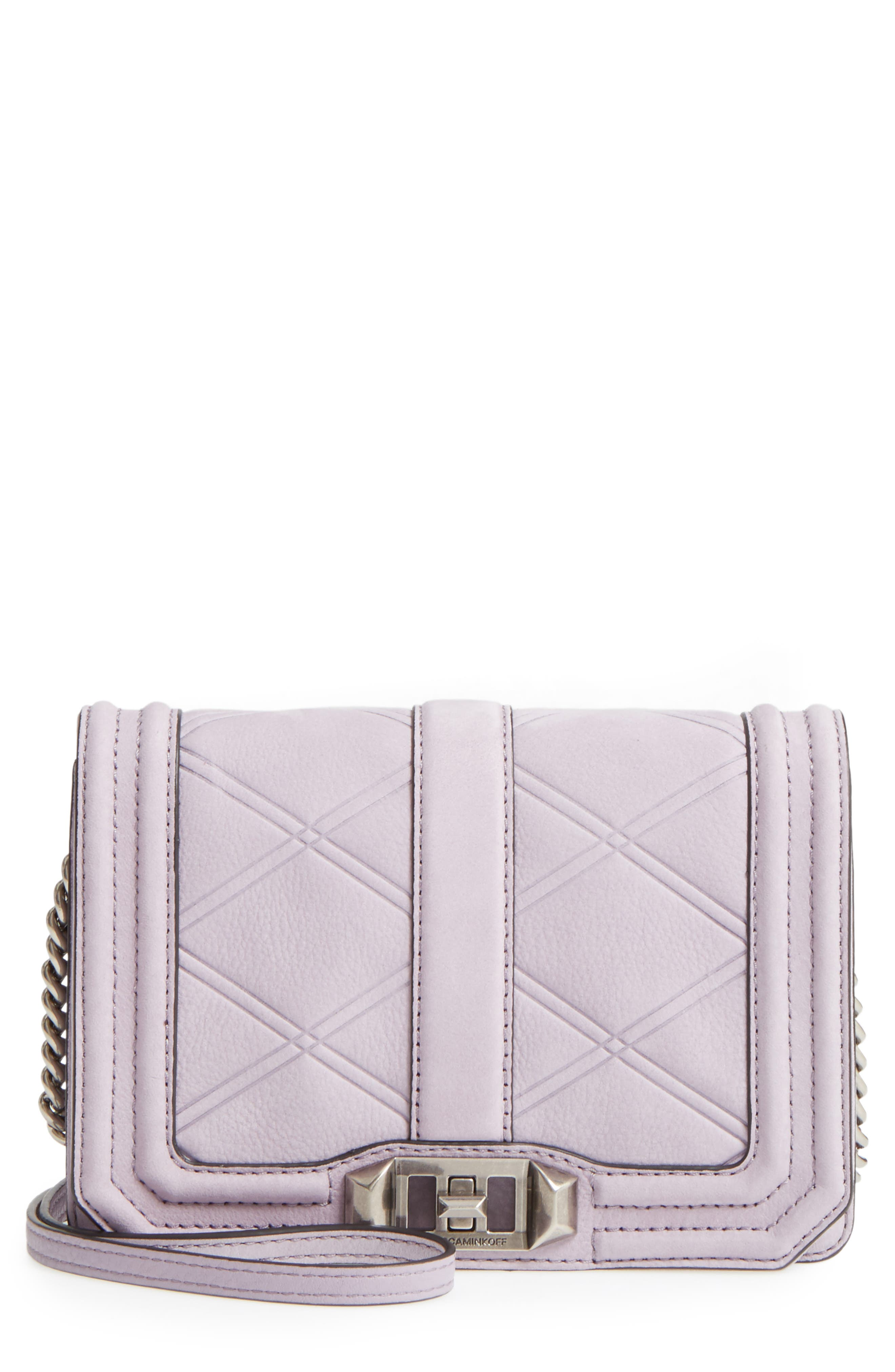 Small Love Nubuck Leather Crossbody Bag,                             Main thumbnail 5, color,