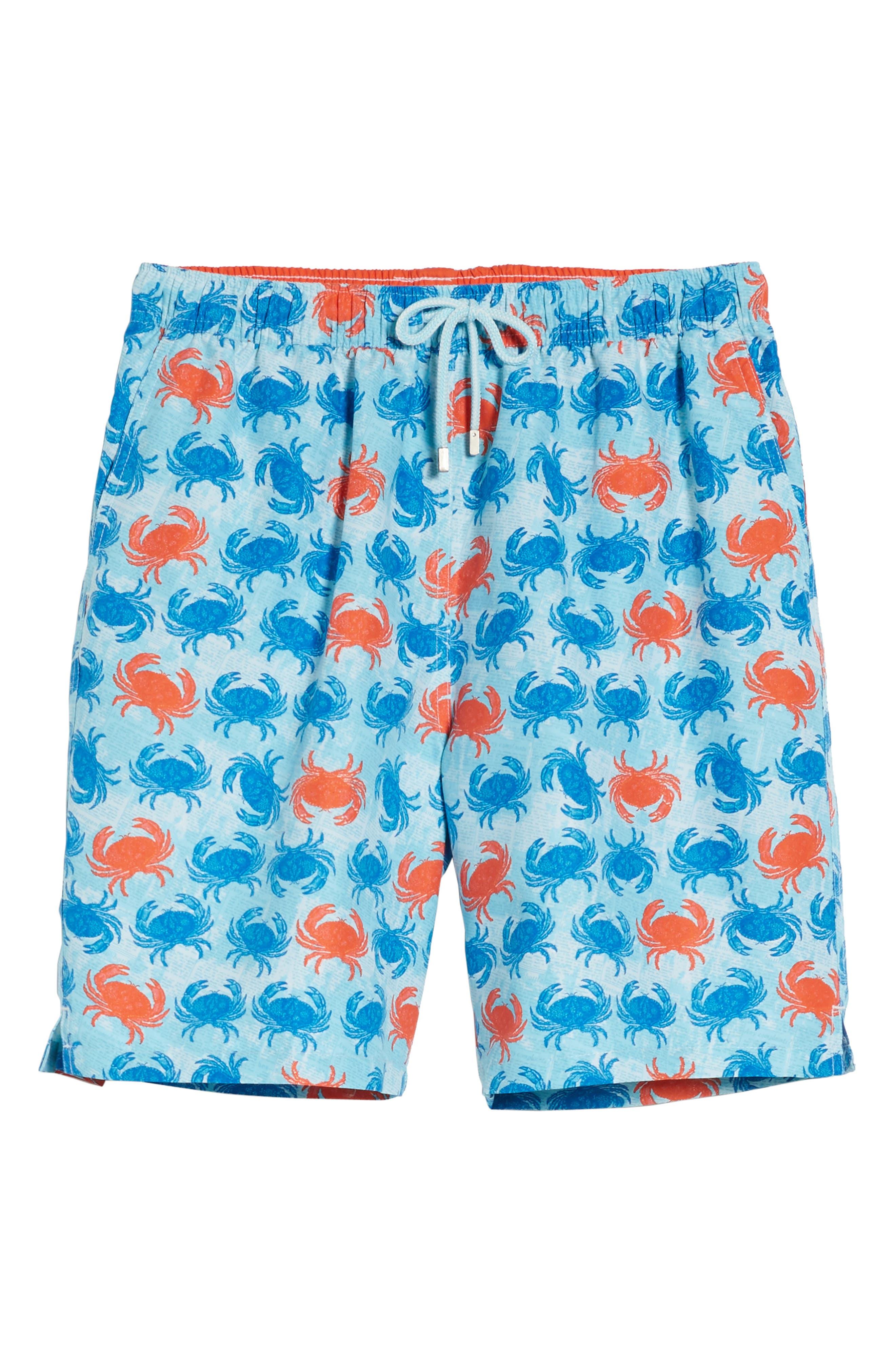 Crab Shack Swim Shorts,                             Alternate thumbnail 6, color,                             424