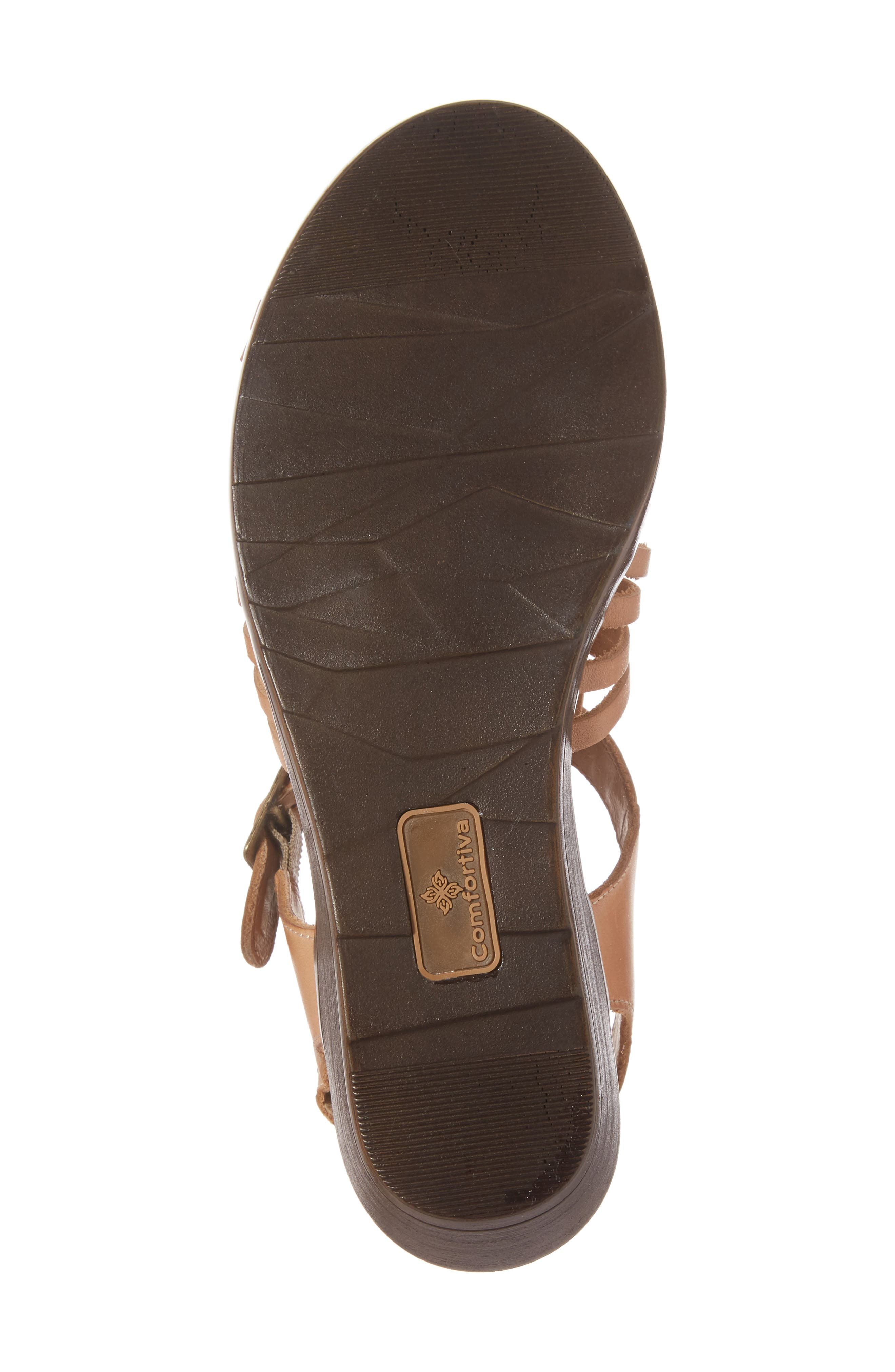 Freeport Sandal,                             Alternate thumbnail 6, color,                             NATURAL LEATHER
