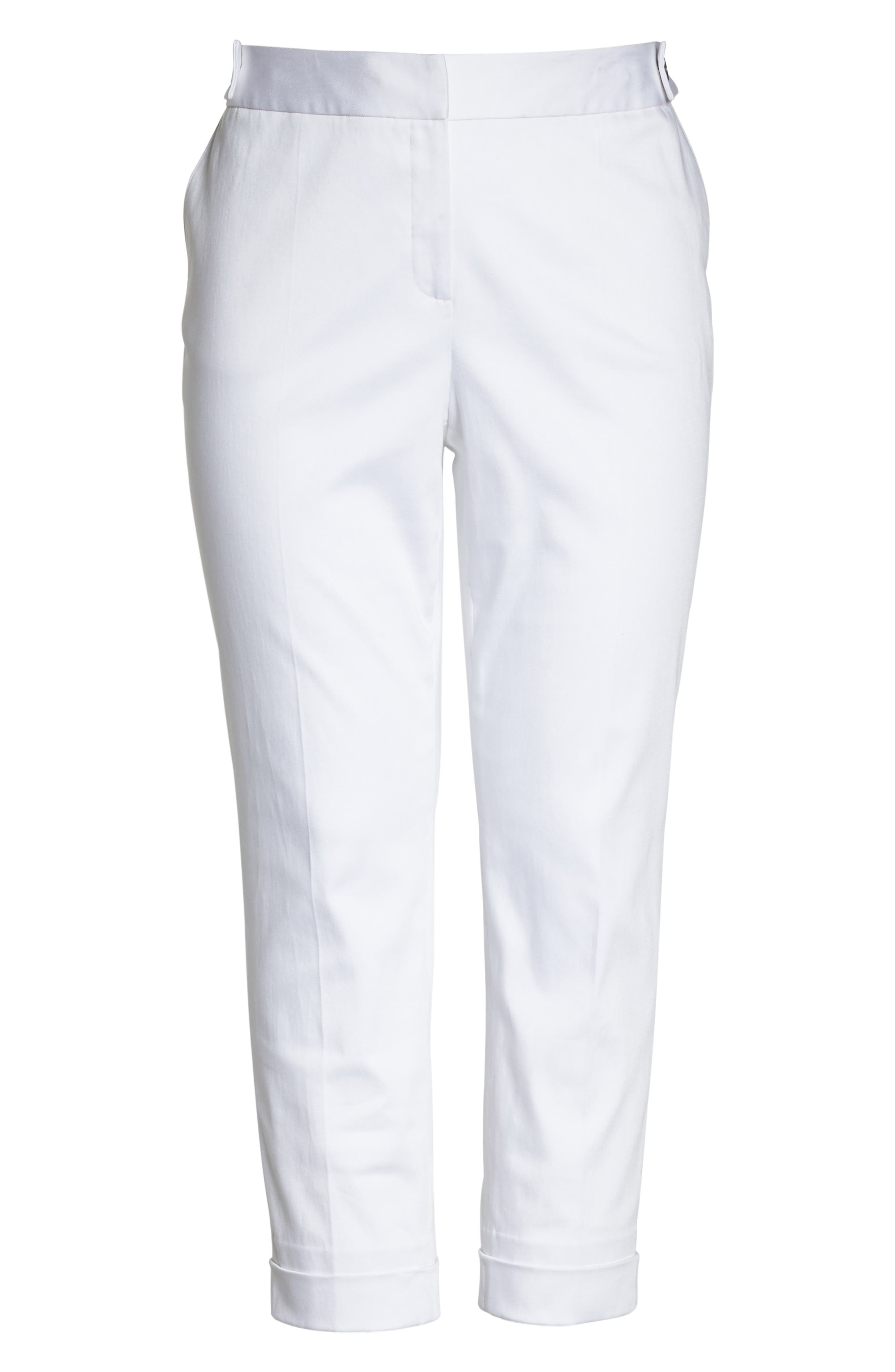 Stretch Twill Ankle Pants,                             Alternate thumbnail 22, color,