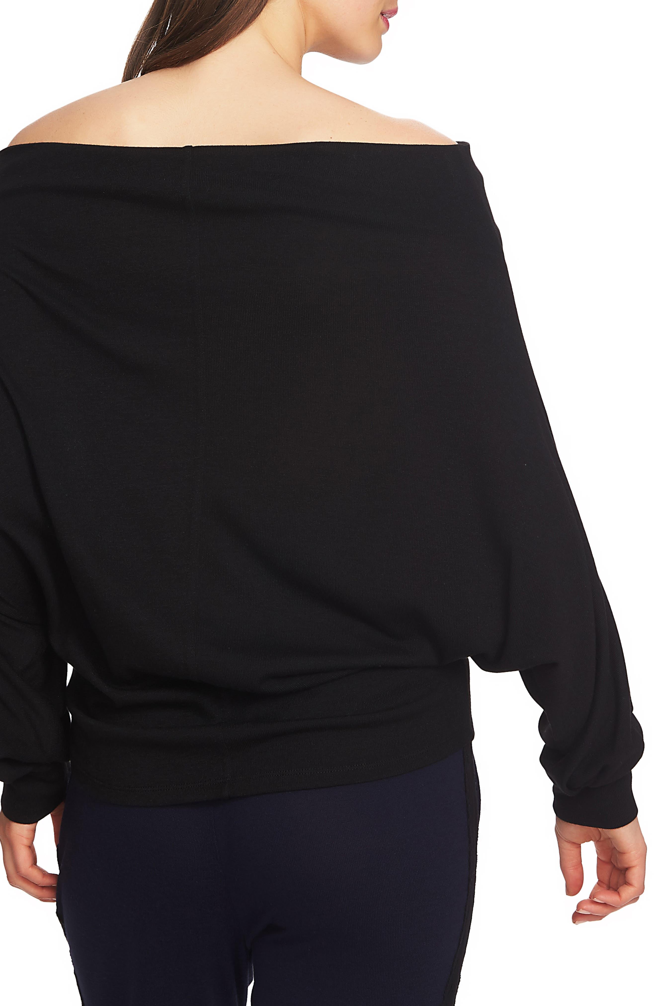 Off the Shoulder Sweater,                             Alternate thumbnail 2, color,                             RICH BLACK