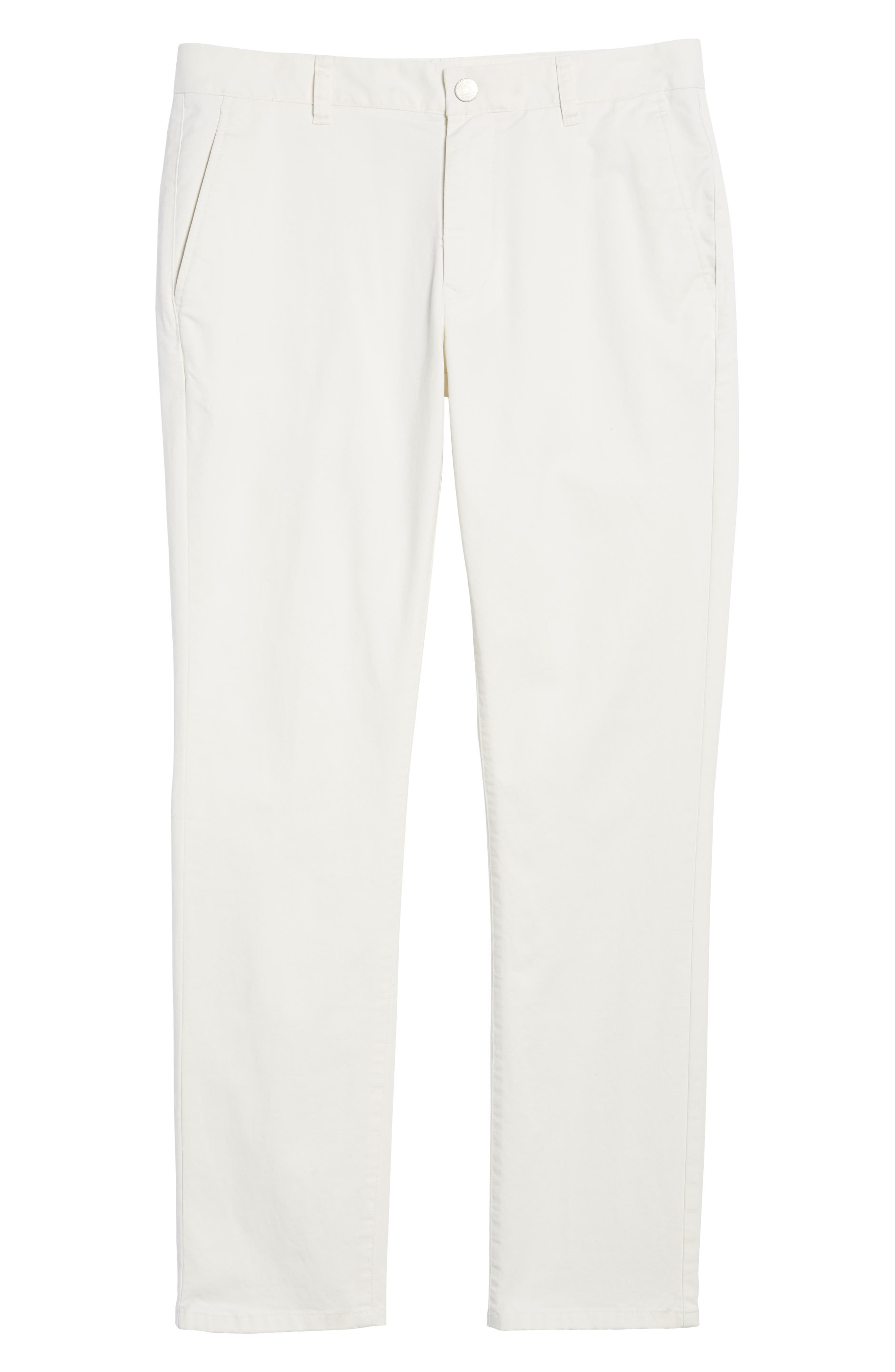 Tailored Fit Washed Stretch Cotton Chinos,                             Alternate thumbnail 6, color,                             100