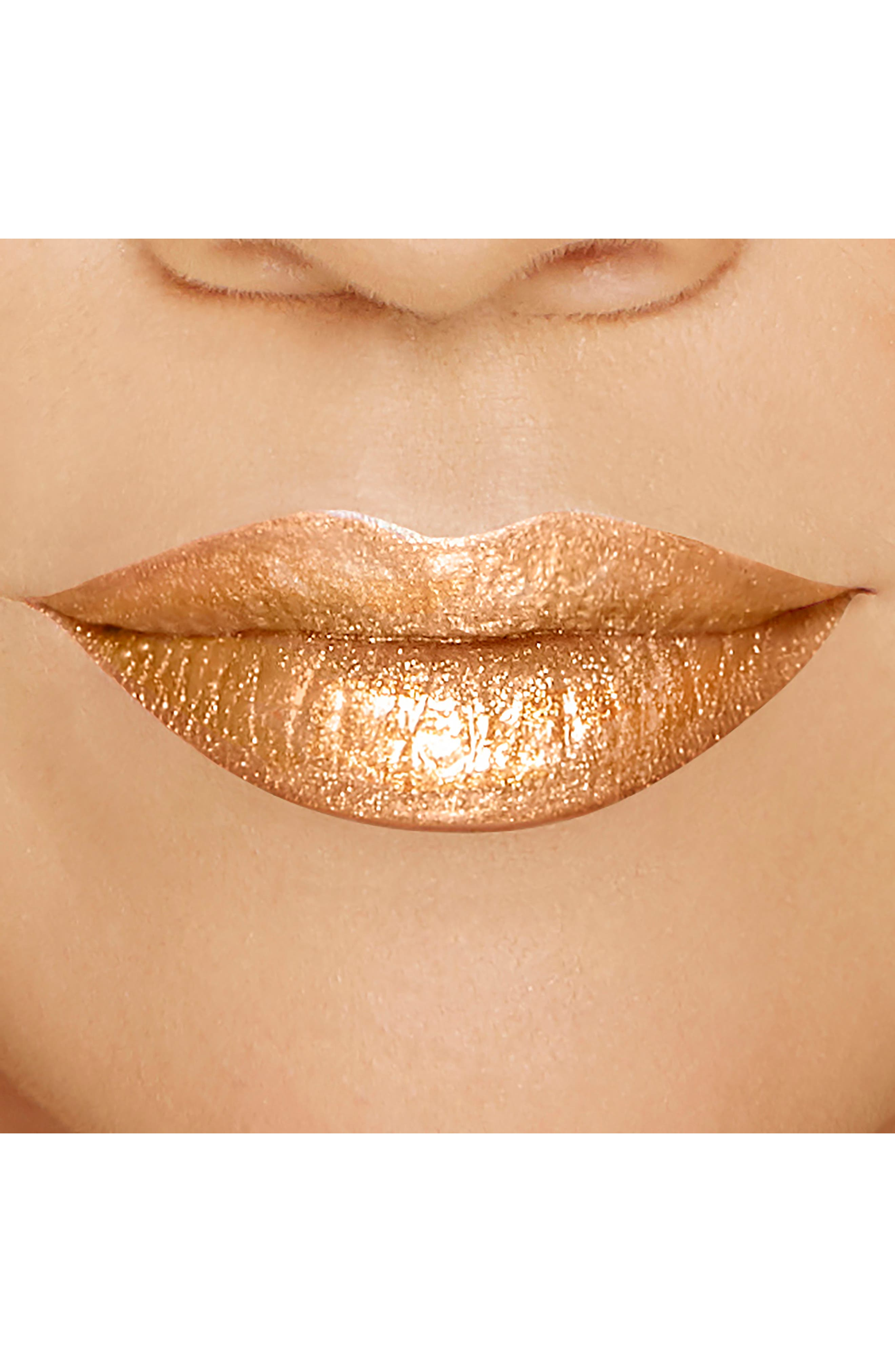 Melted Gold Liquified Gold Lip Gloss,                             Alternate thumbnail 5, color,                             GOLD