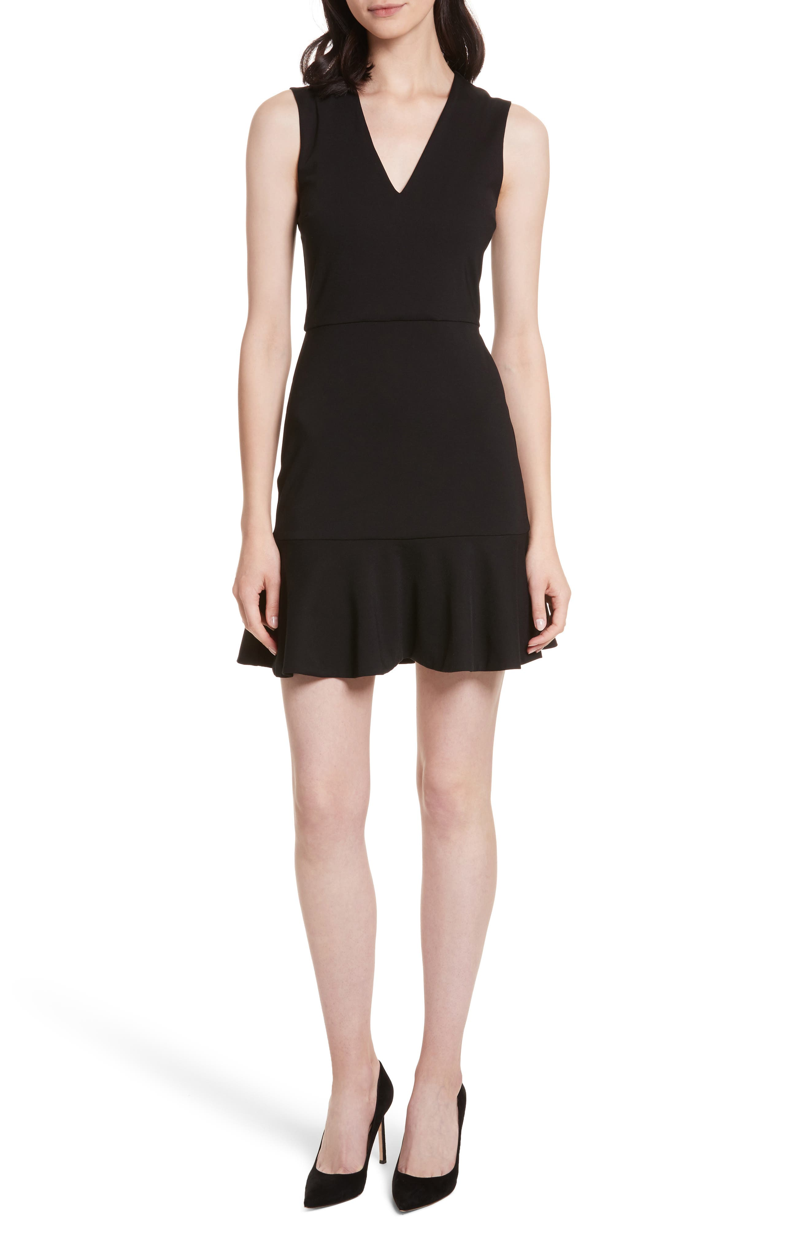 Onella V-Neck Dress,                             Main thumbnail 1, color,                             001