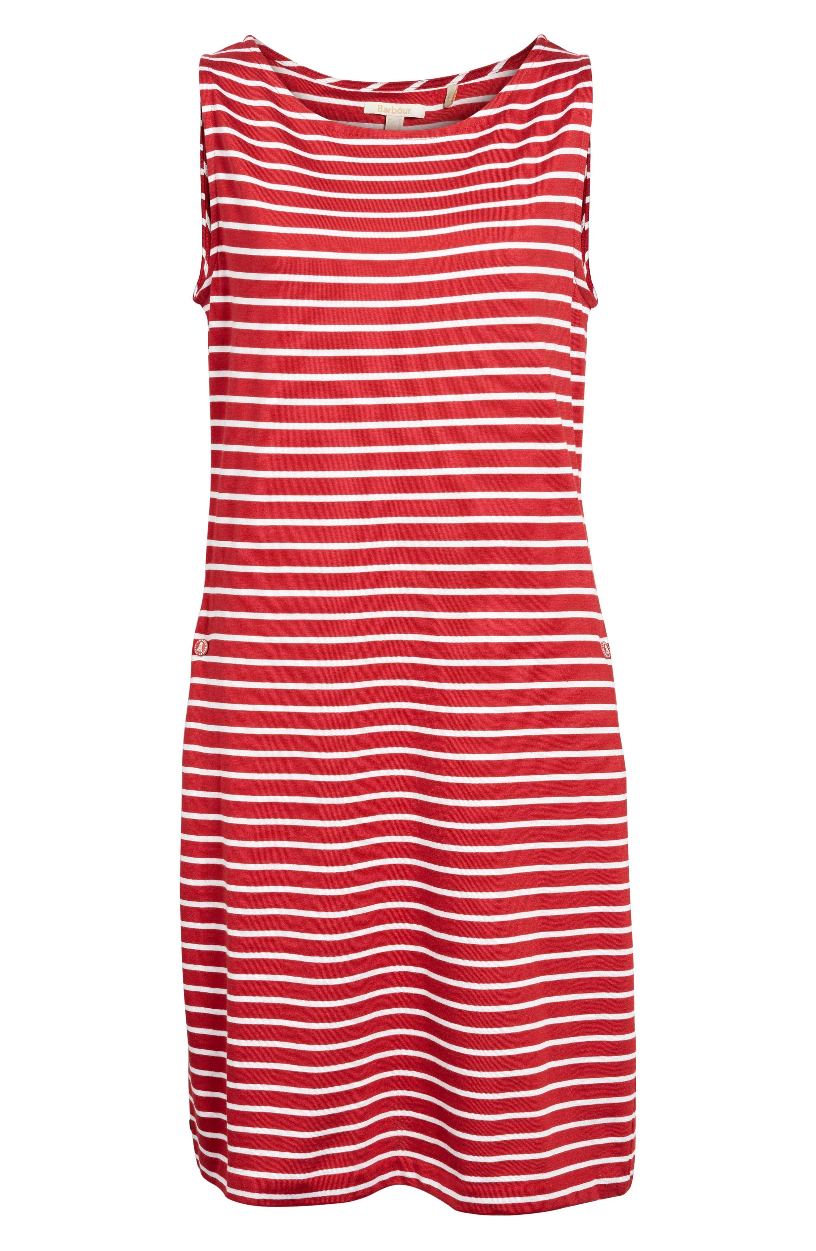Dalmore Stripe Jersey Sleeveless Shift Dress,                             Alternate thumbnail 6, color,                             630