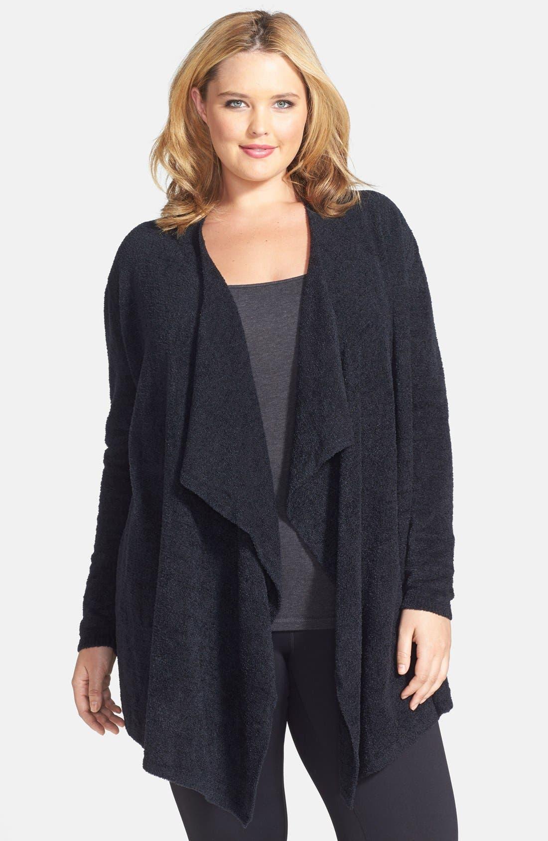 CozyChic Lite<sup>®</sup> Calypso Wrap Cardigan,                         Main,                         color, BLACK