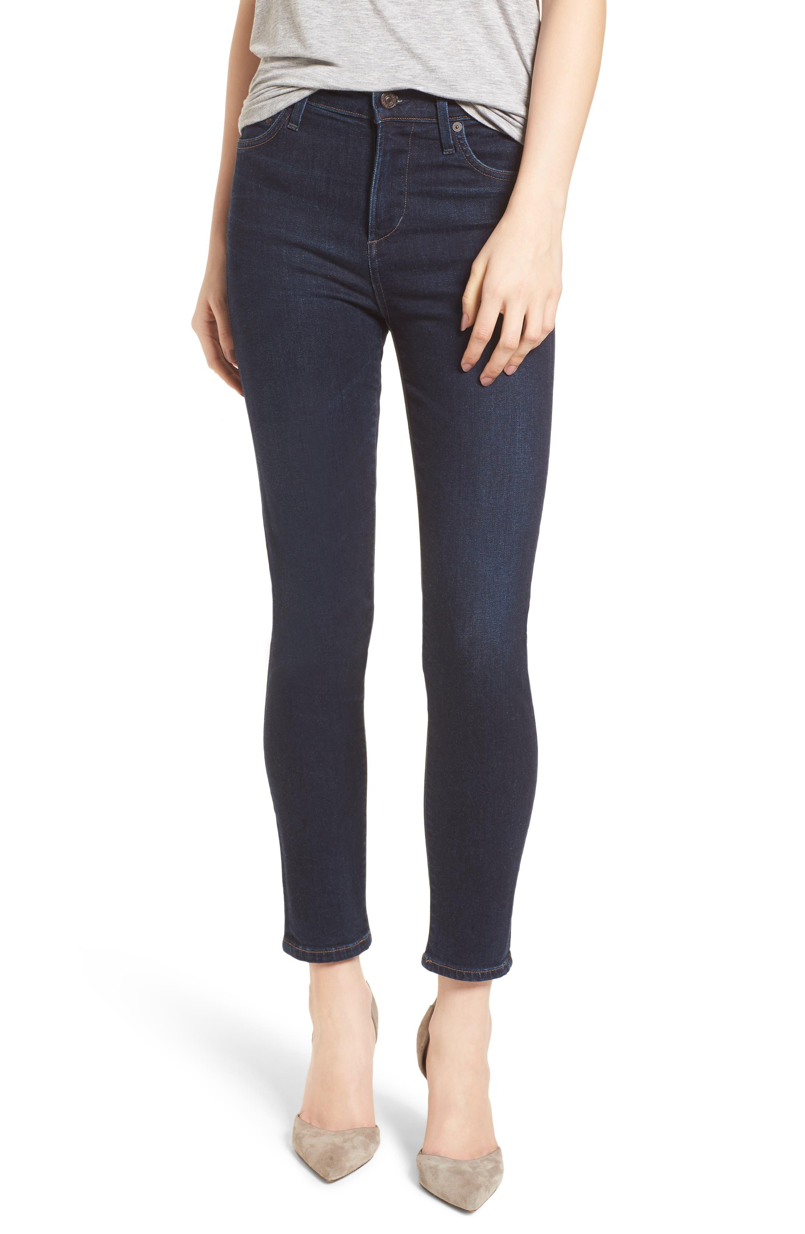 Rocket High Waist Crop Skinny Jeans,                             Main thumbnail 1, color,                             484