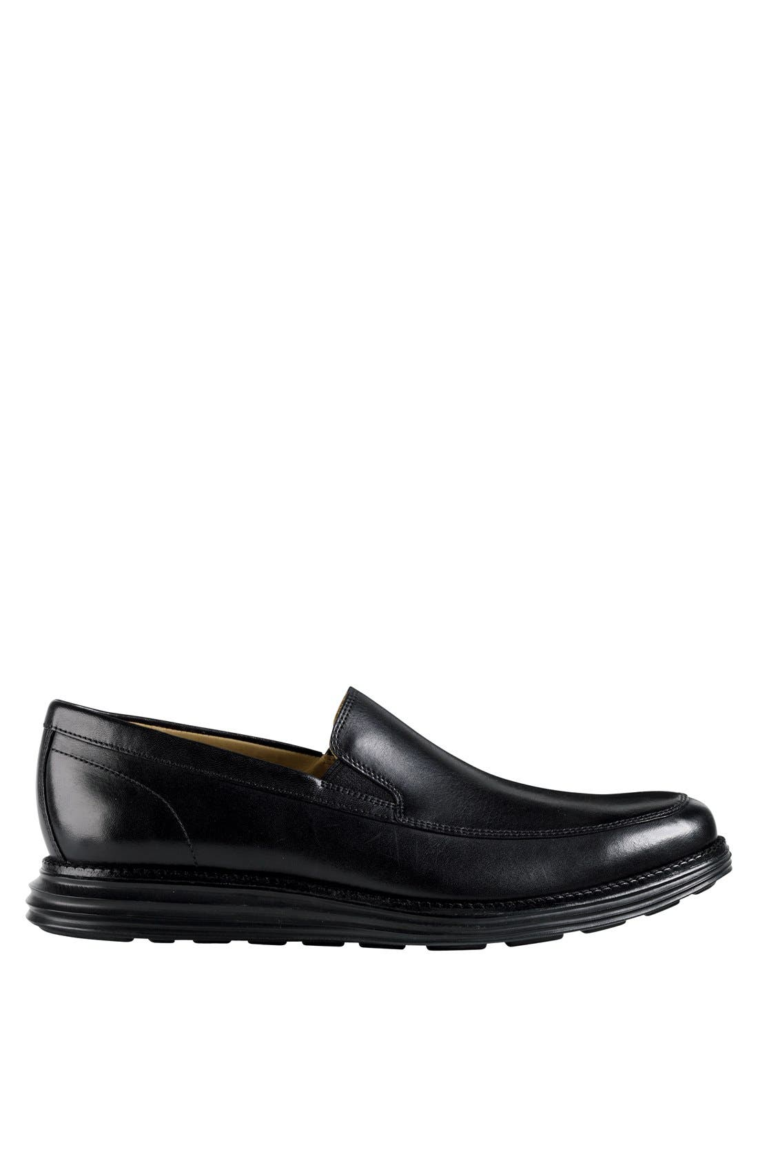 COLE HAAN,                             'LunarGrand' Apron Toe Loafer,                             Alternate thumbnail 5, color,                             001