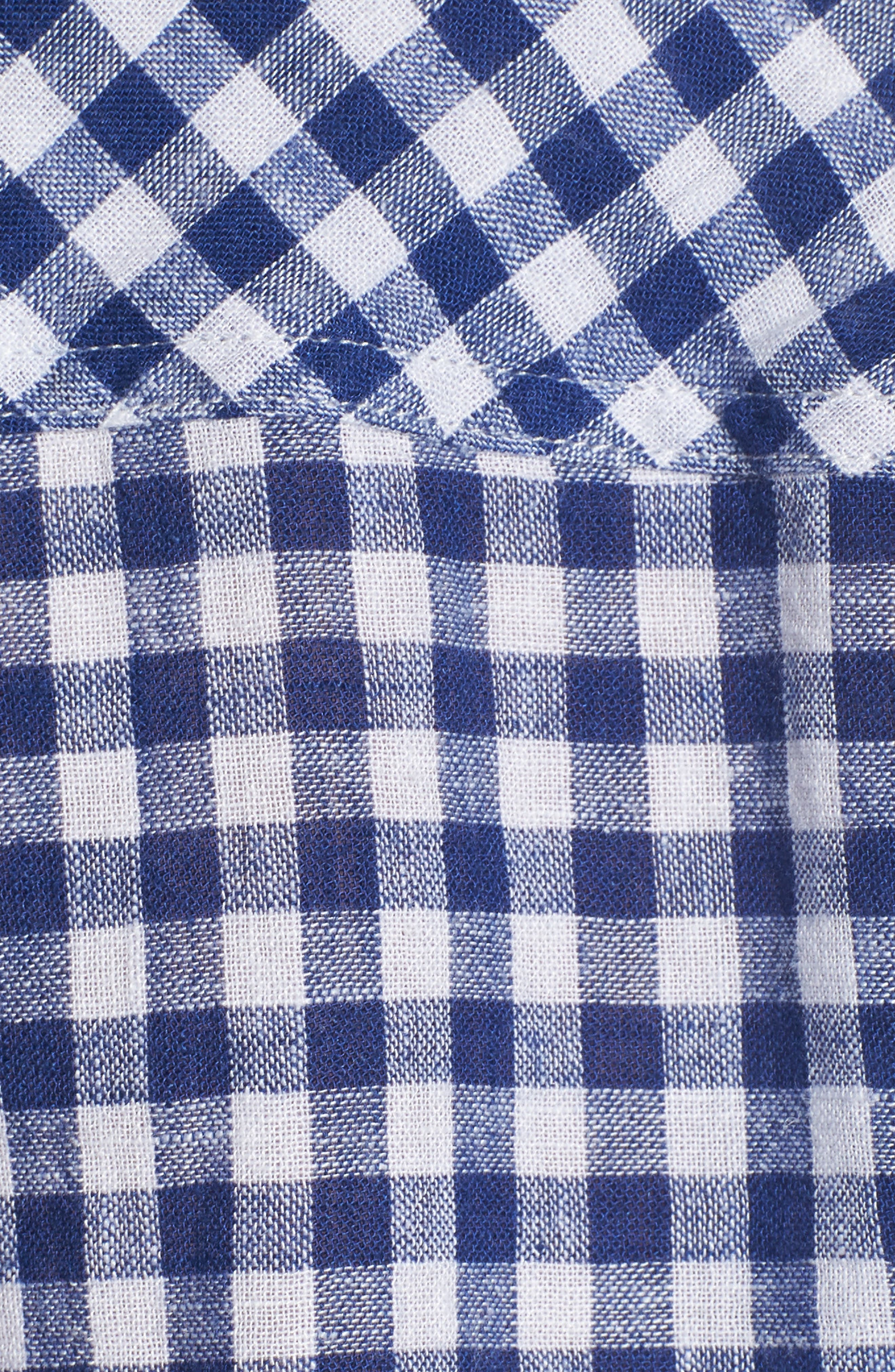 Val Gingham Tie Front Shirt,                             Alternate thumbnail 6, color,                             407