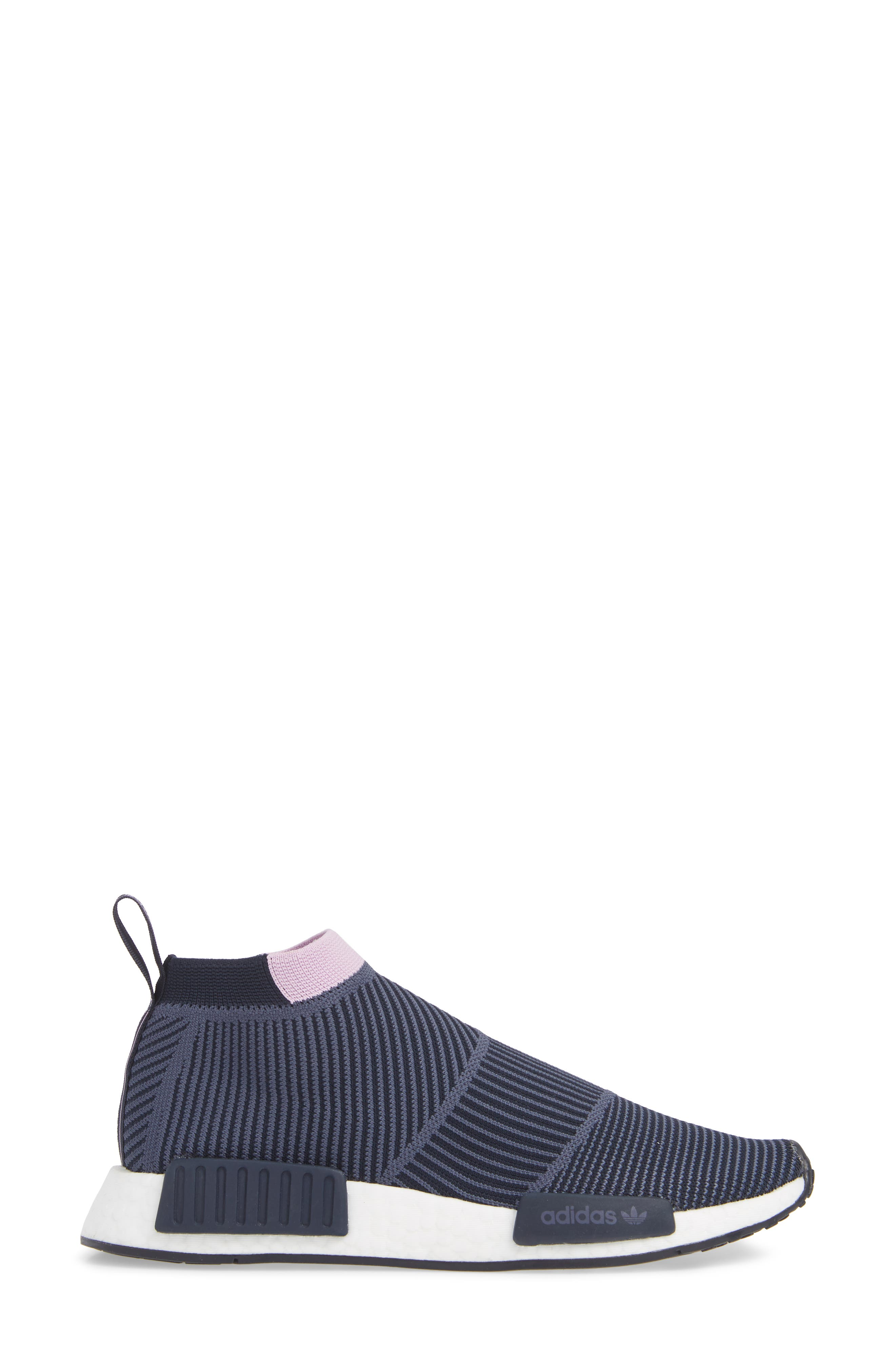 NMD_CS1 Primeknit Sneaker,                             Alternate thumbnail 3, color,                             LEGEND INK/ CLEAR LILAC