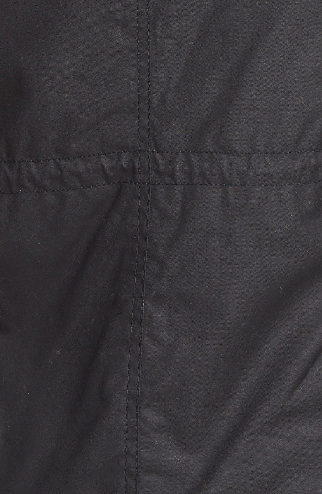 BARBOUR,                             'Kelsall' FauxFur & FauxShearling TrimWaxed CottonParka,                             Alternate thumbnail 2, color,                             001