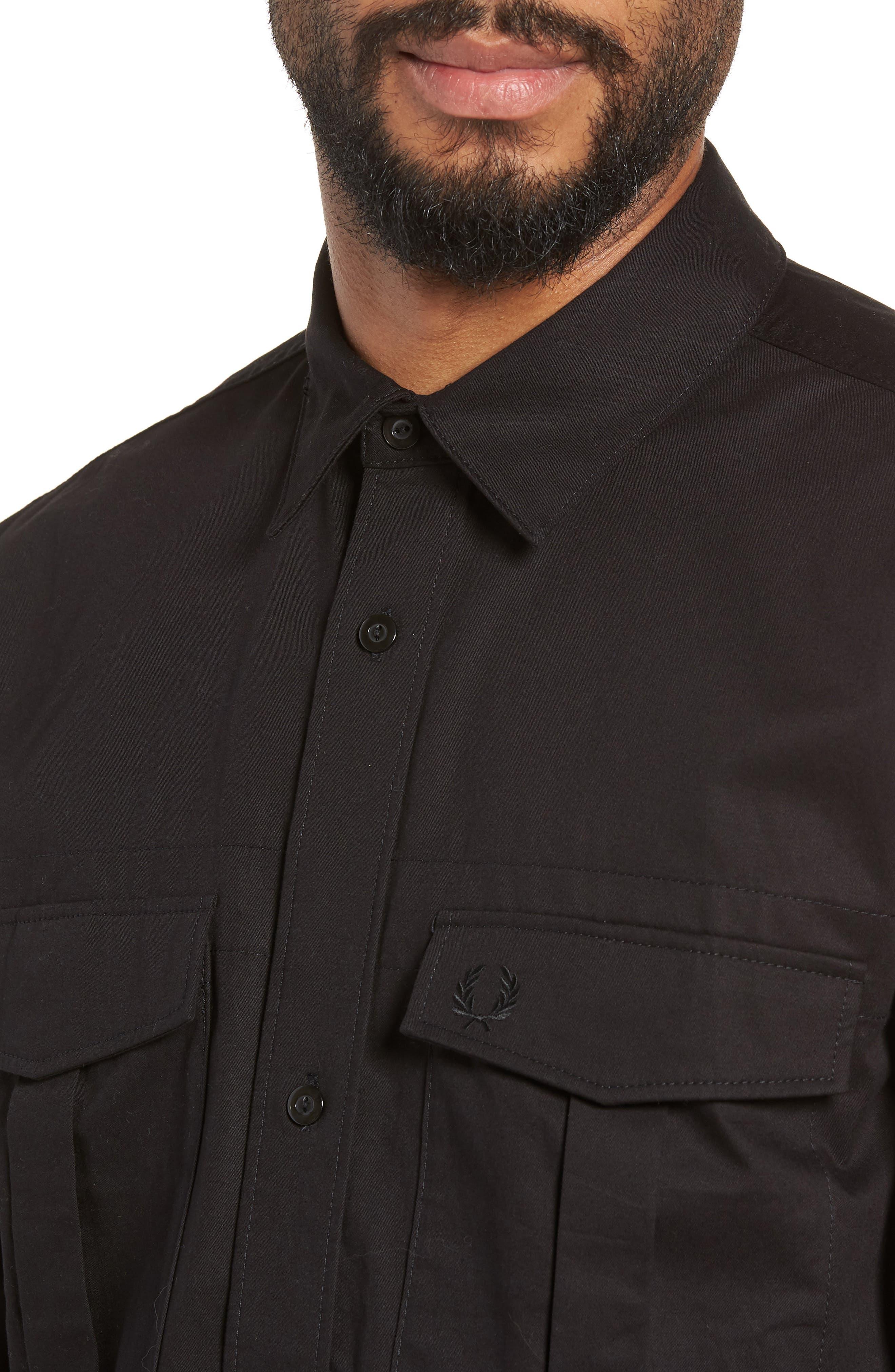 Utility Sport Shirt,                             Alternate thumbnail 2, color,                             BLACK