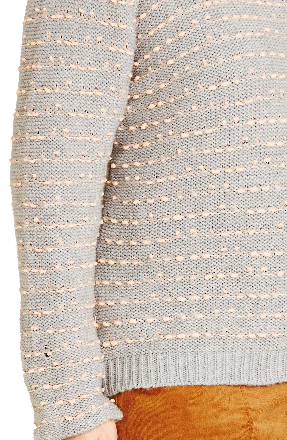 Back Zip Color Pop Sweater,                             Alternate thumbnail 3, color,                             080