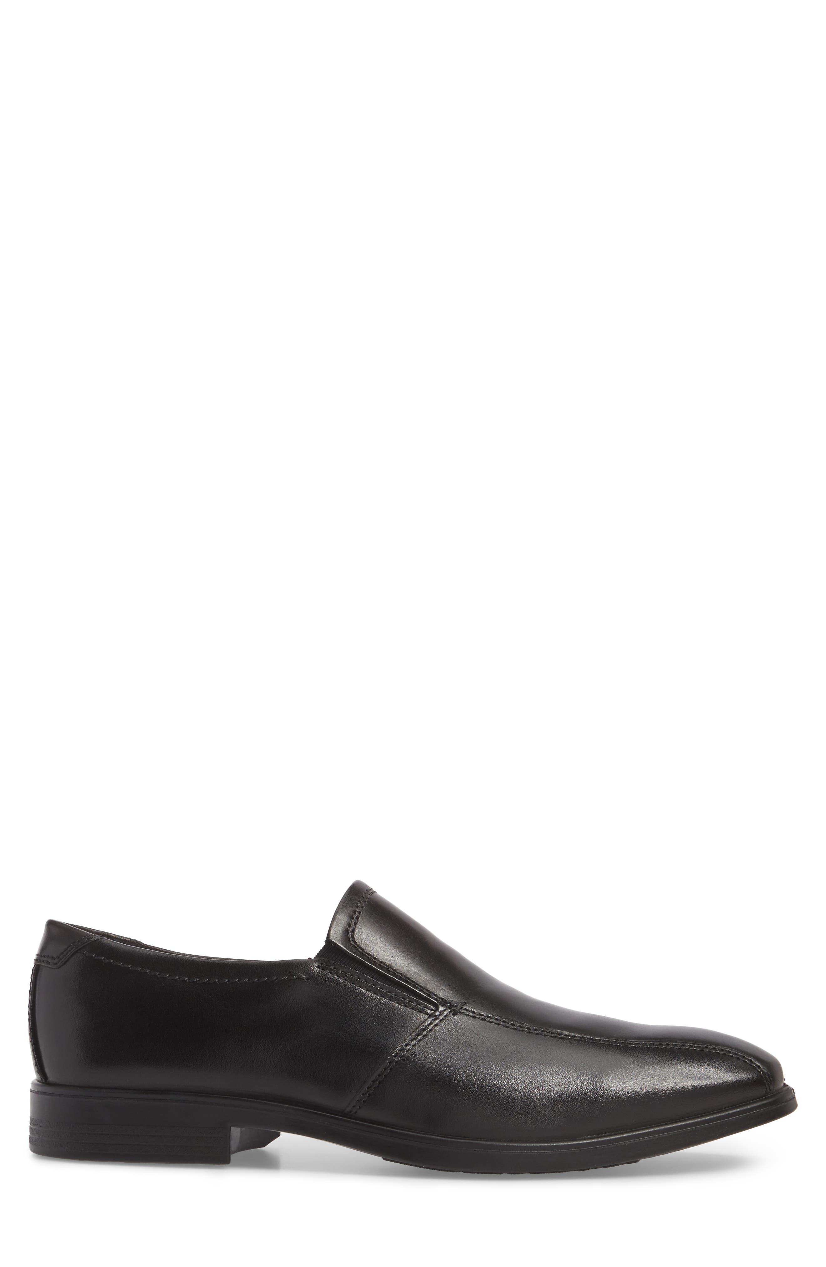 Melbourne Venetian Loafer,                             Alternate thumbnail 3, color,                             BLACK LEATHER