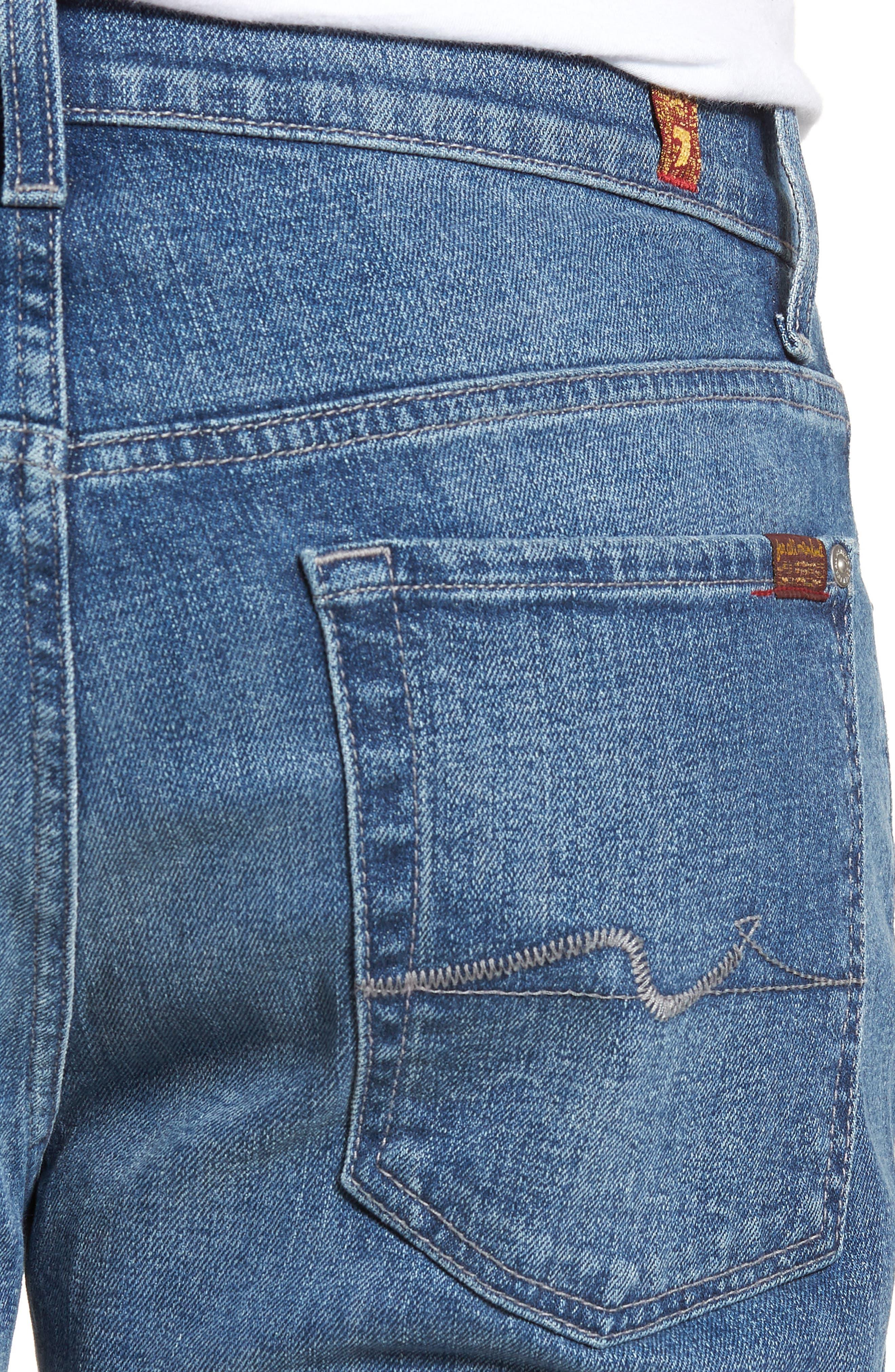 Standard Straight Leg Jeans,                             Alternate thumbnail 4, color,