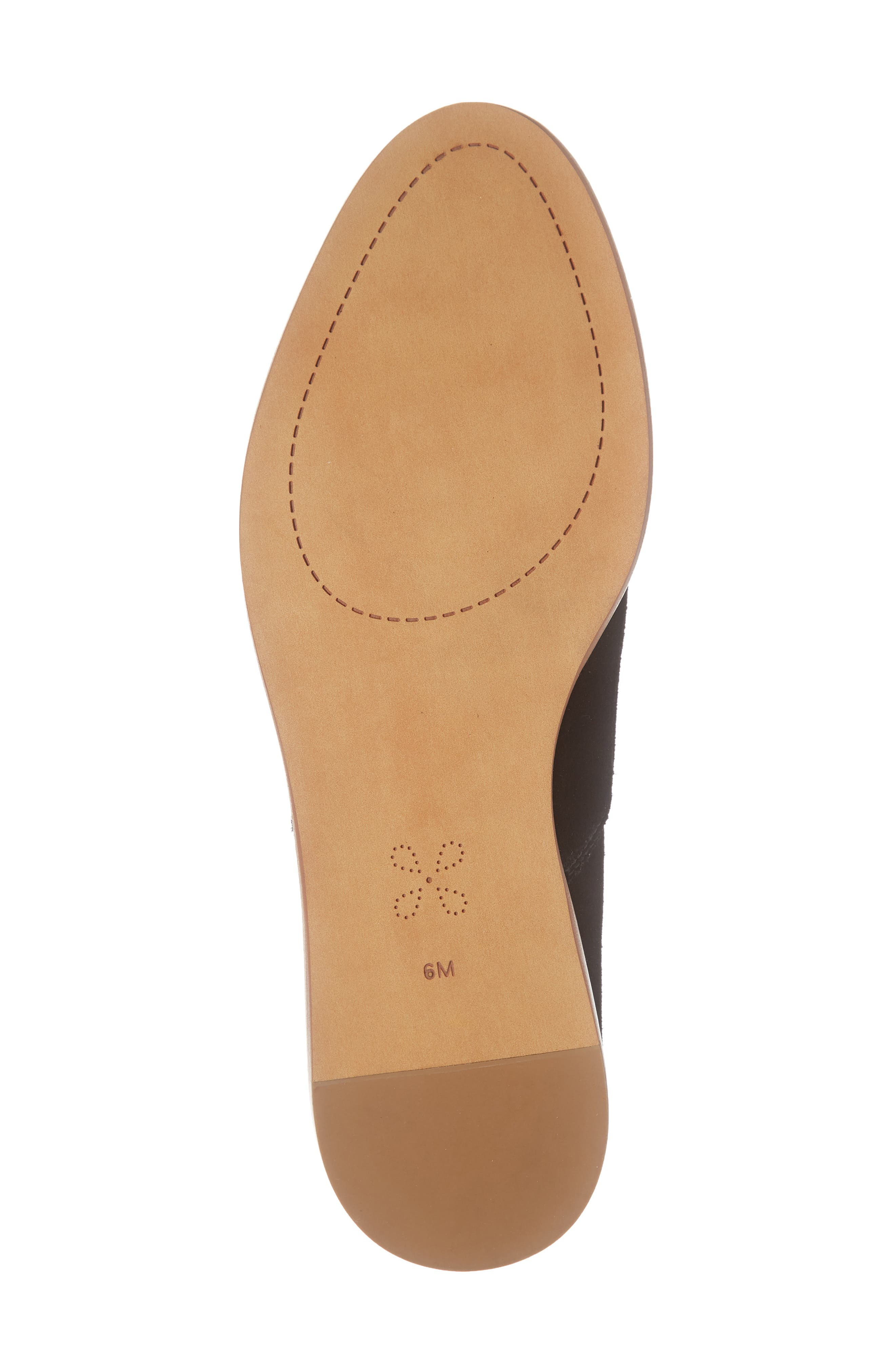 CASLON<SUP>®</SUP>,                             Adrian Perforated Flat,                             Alternate thumbnail 6, color,                             BLACK SUEDE