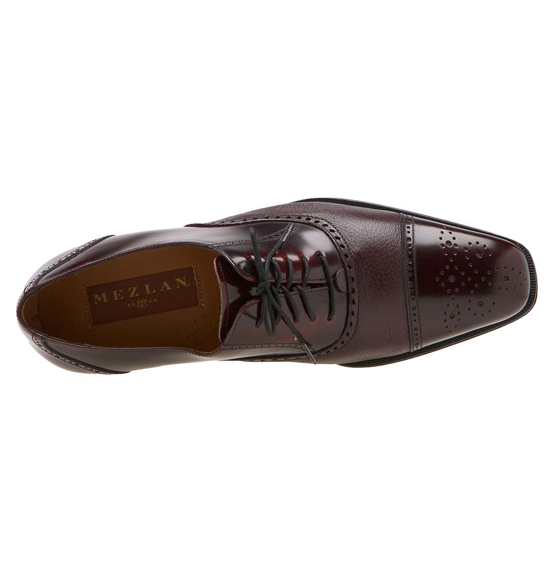 'Tyson II' Oxford,                             Alternate thumbnail 3, color,                             BURGUNDY