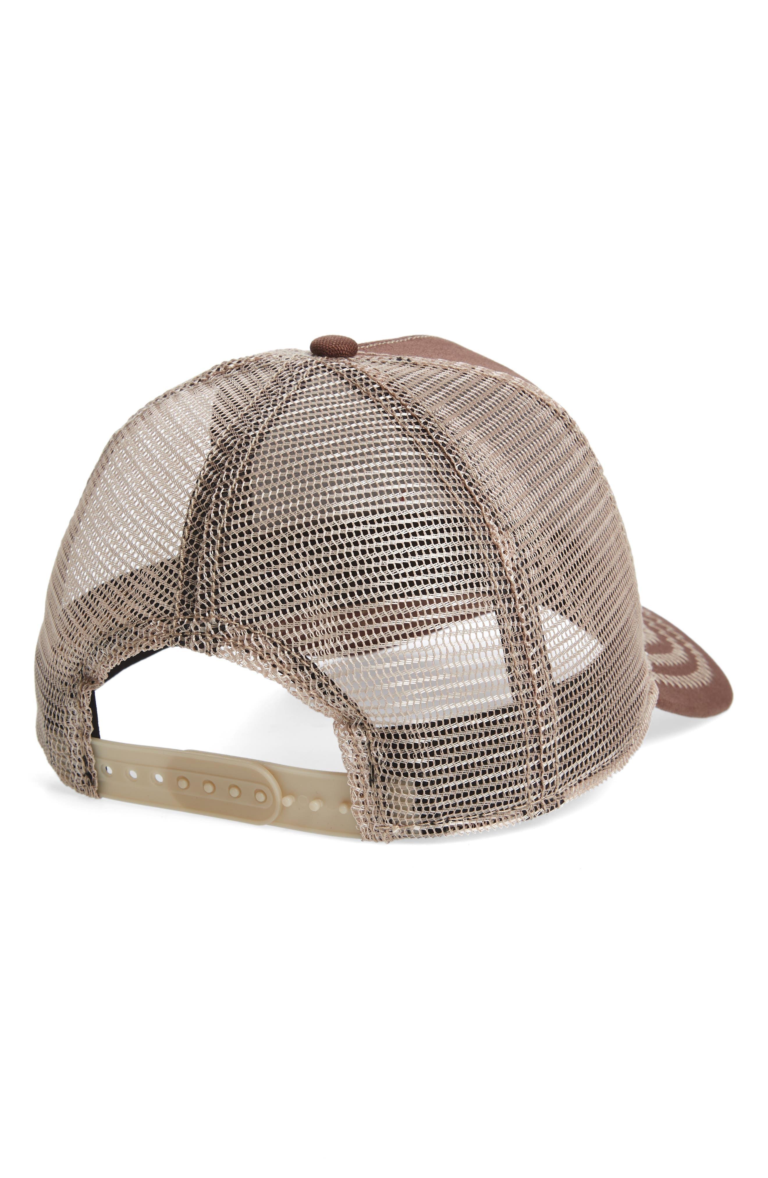 Animal Farm Beaver Mesh Trucker Hat,                             Alternate thumbnail 2, color,                             BROWN