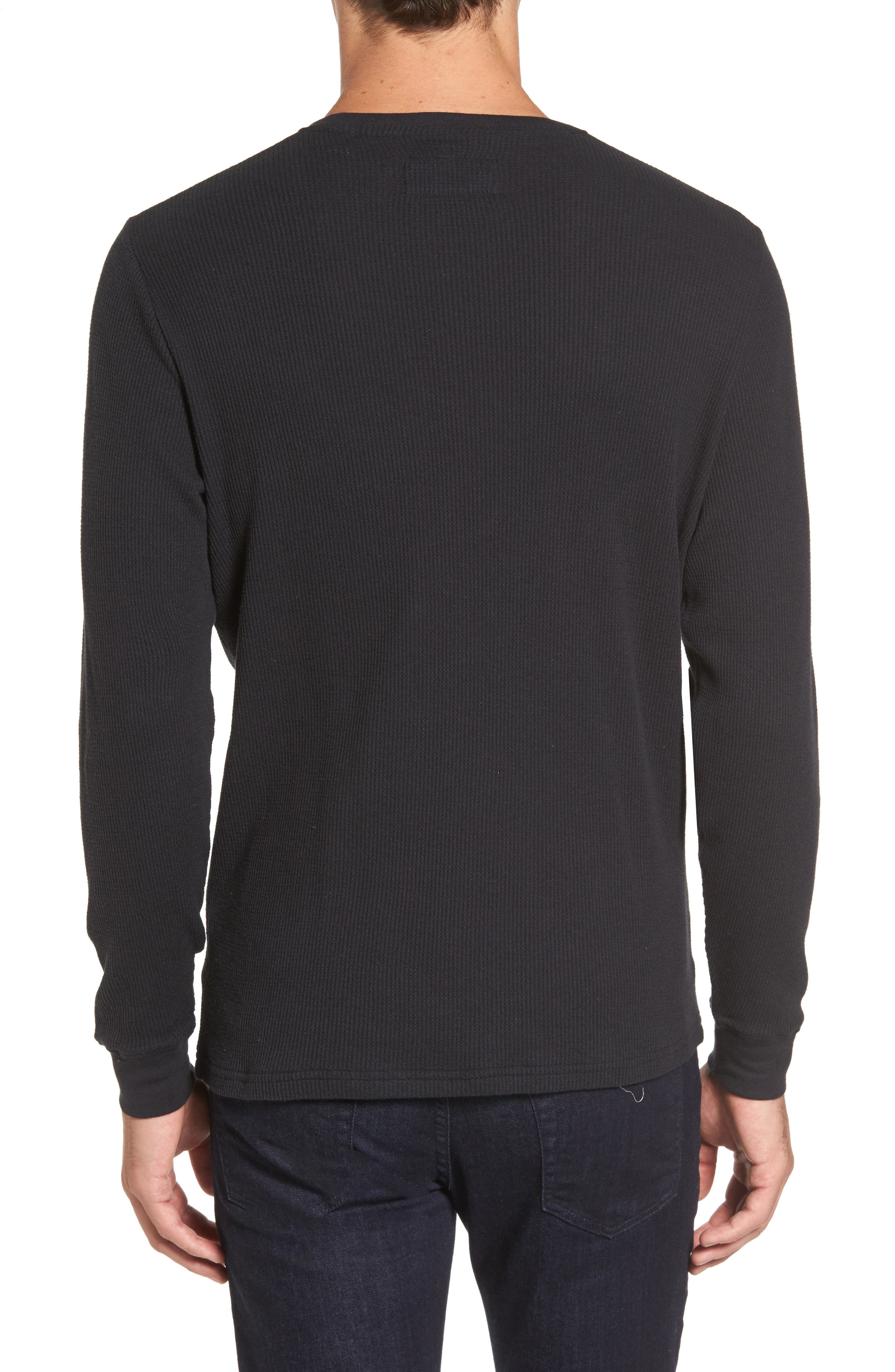 Vista Waffle Knit T-Shirt,                             Alternate thumbnail 2, color,                             001
