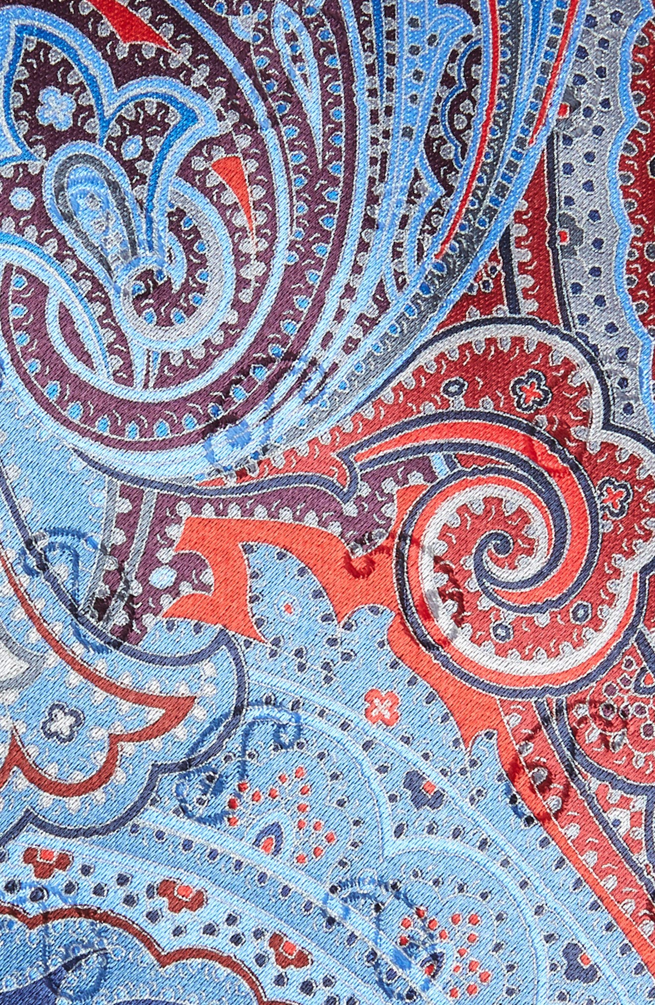 Quindici Paisley Silk Tie,                             Alternate thumbnail 2, color,                             RED
